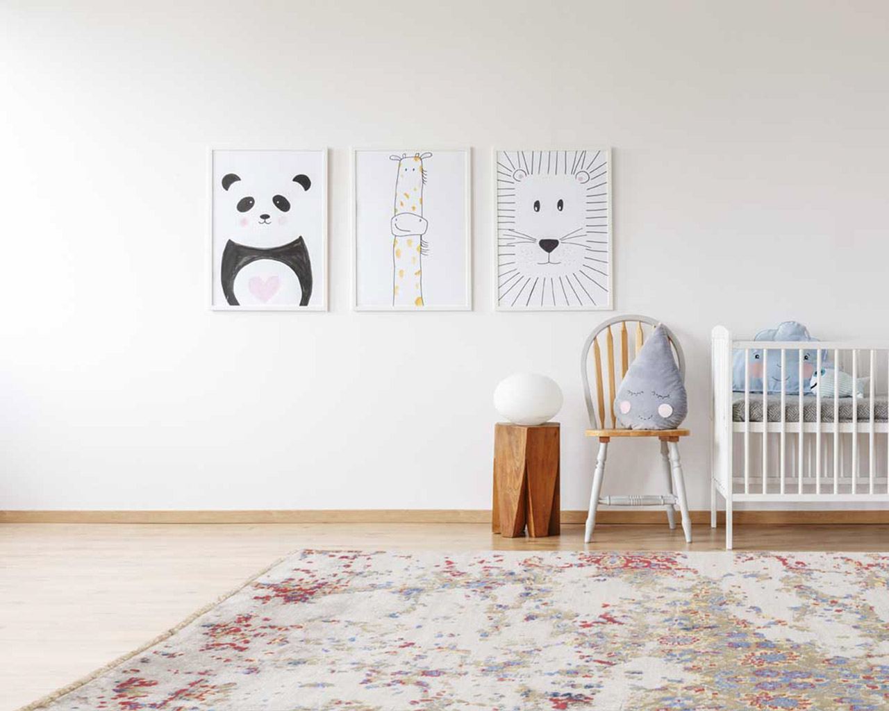 beautiful hand knotted carpet kids room baby cart