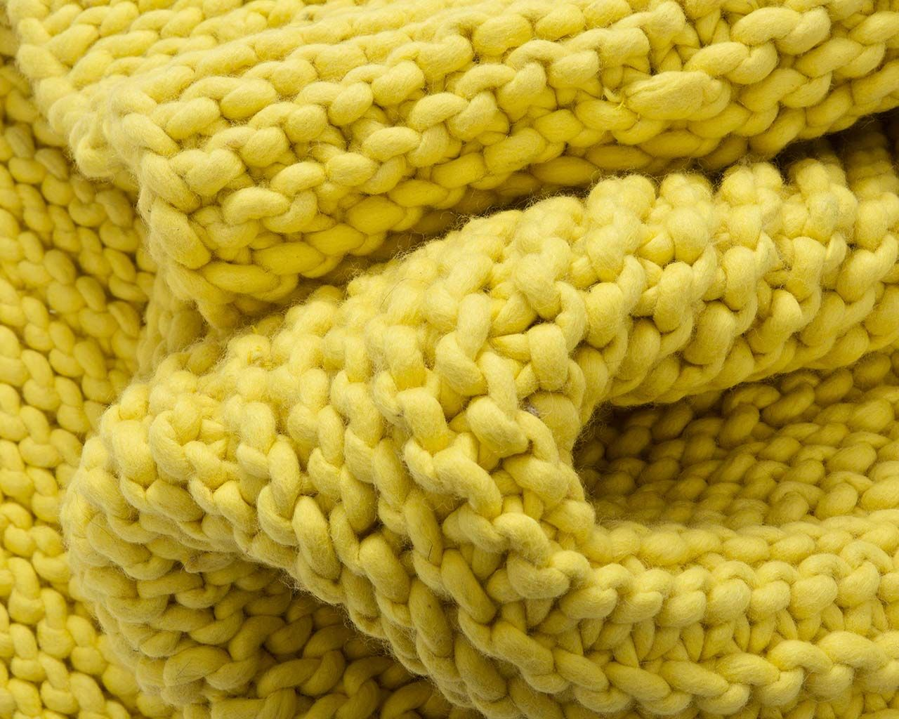 soft braided chunky pale yellow floor rug