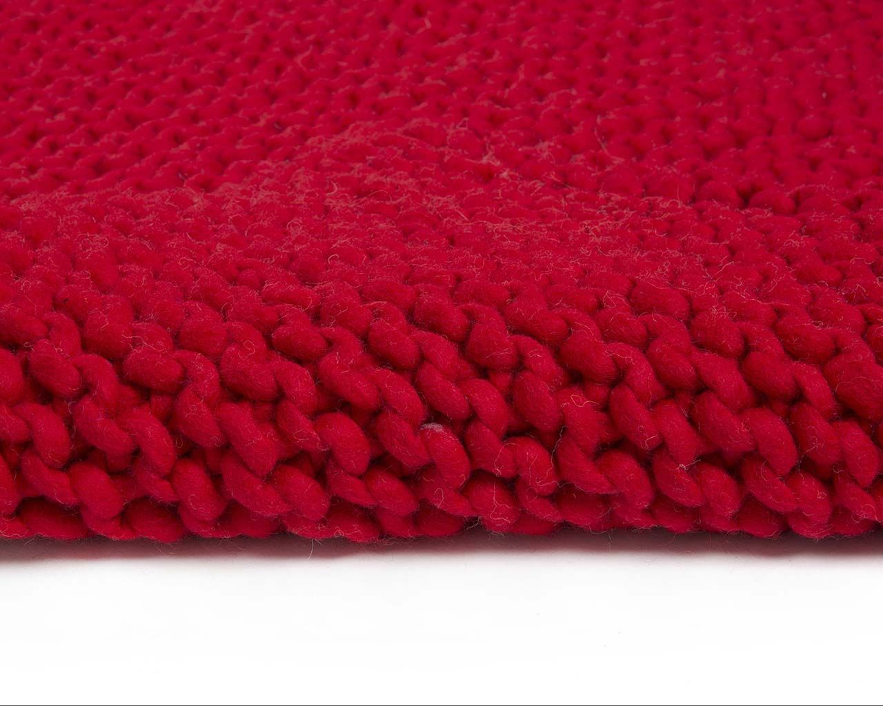 woolen braided chunky soft home rug