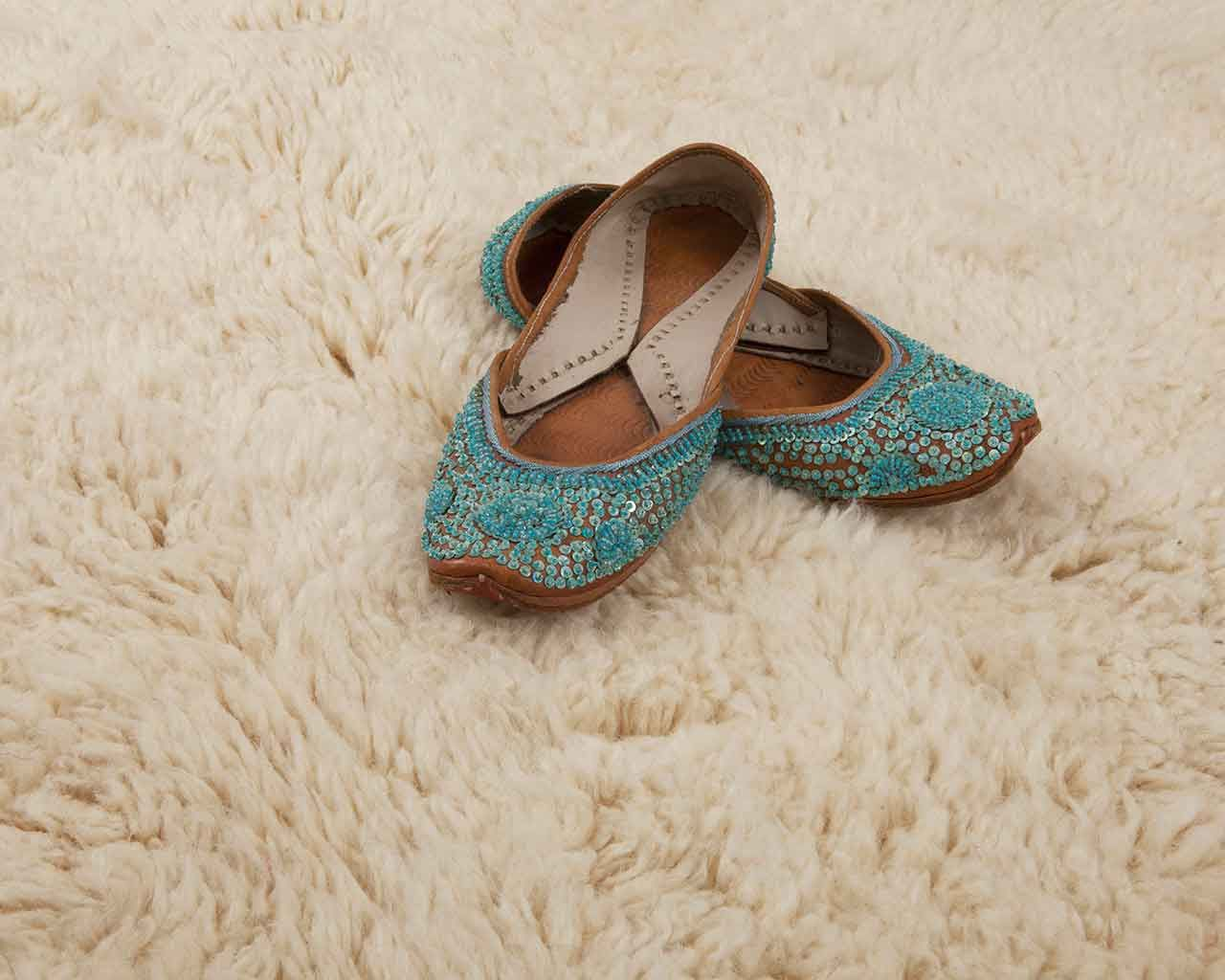 moroccan round rugs white green female shoes 1