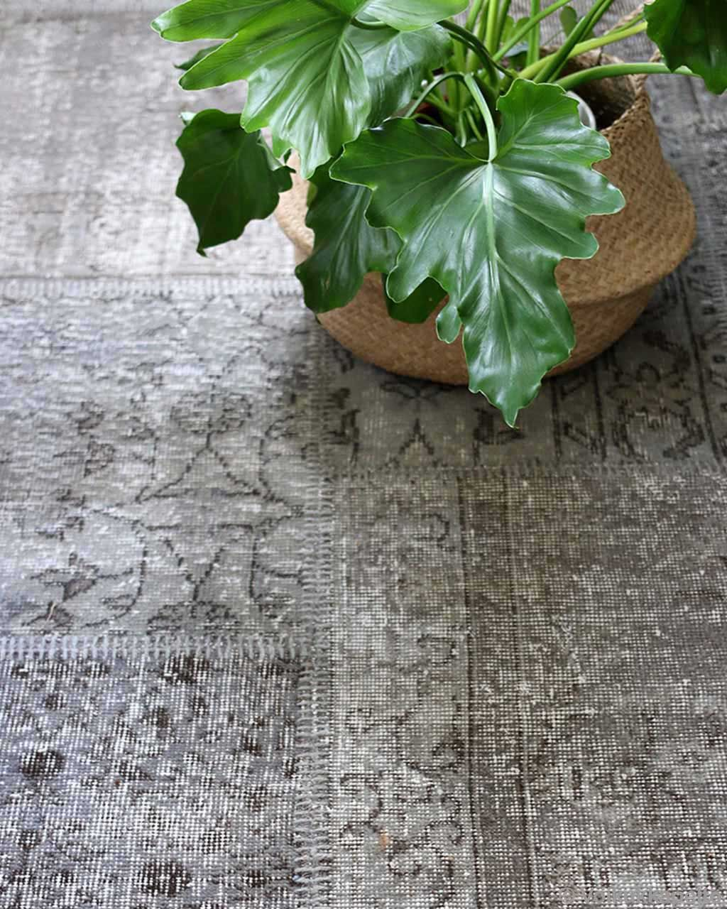 hand knotted green plant oriental light gray rugs online