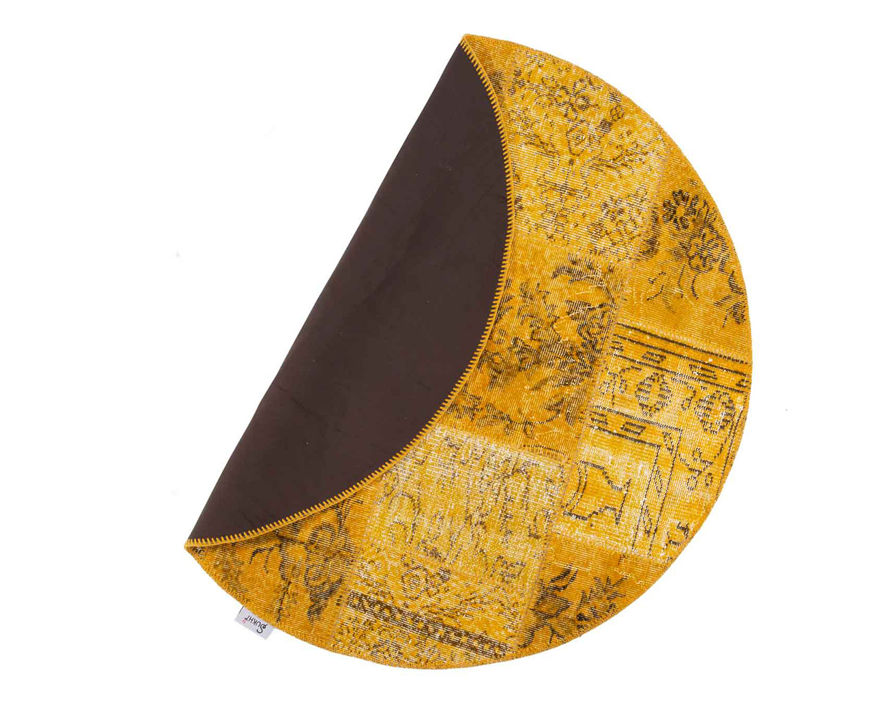 double side colorful round rugs