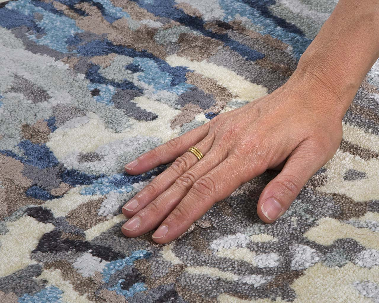 azure oriental hand with ring genuine persian carpets