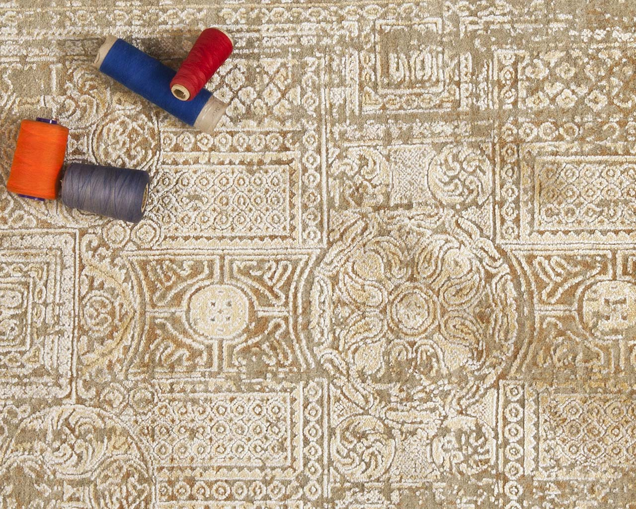 azure woven hand knotted baby rugs