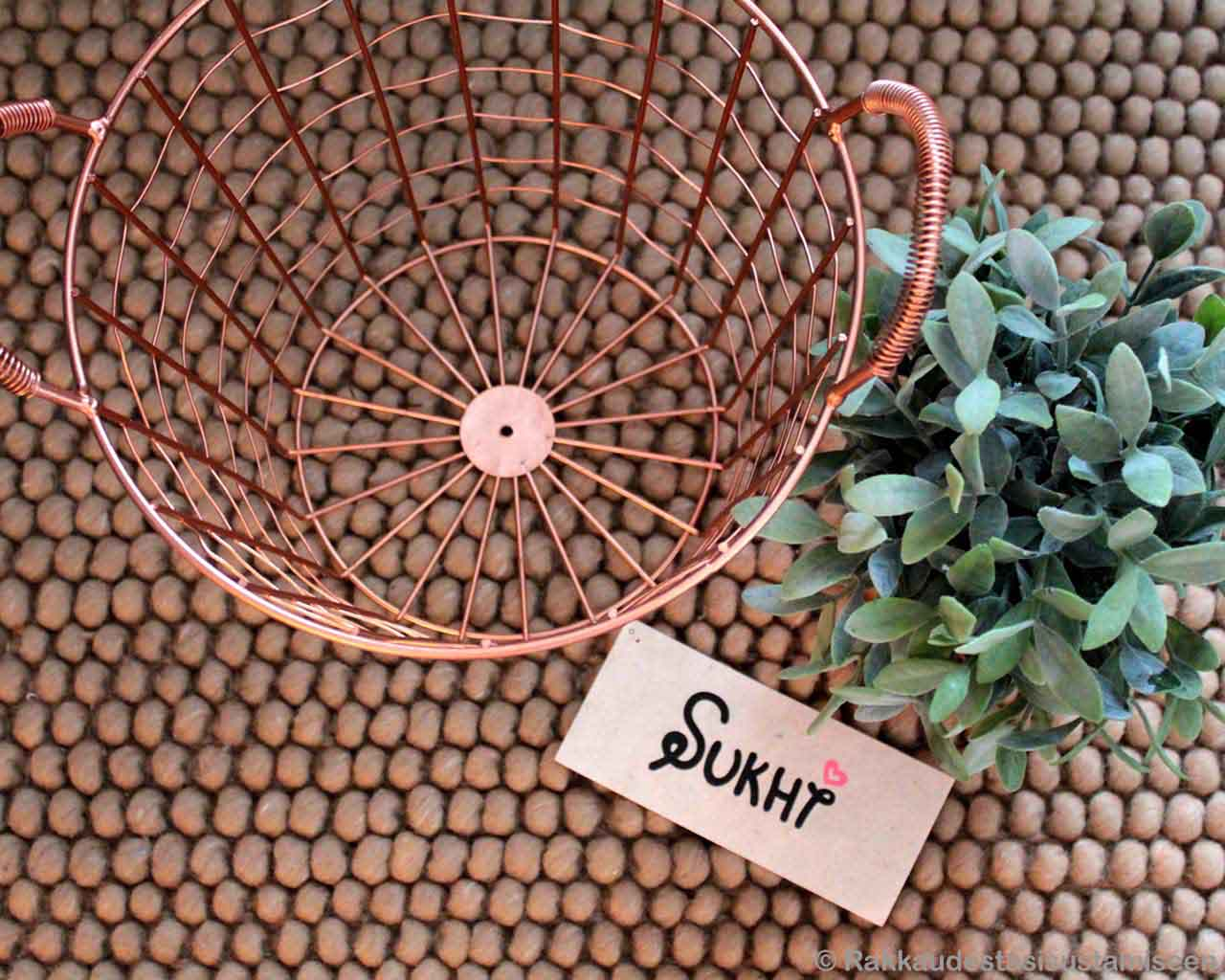 basket and green plant asian fresh rugs
