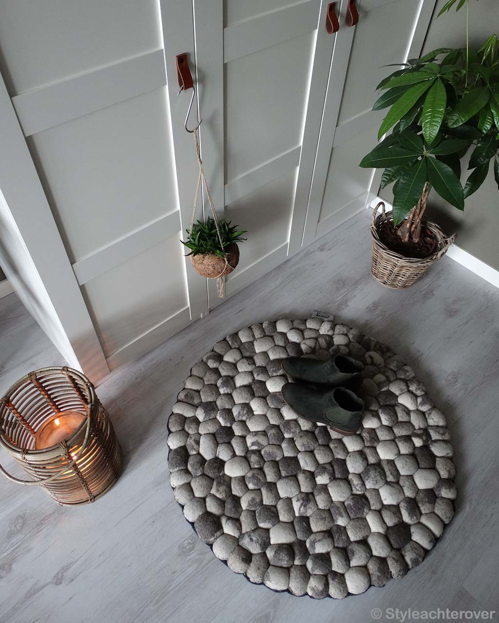 black shoes and basket made in india modern indoor rug
