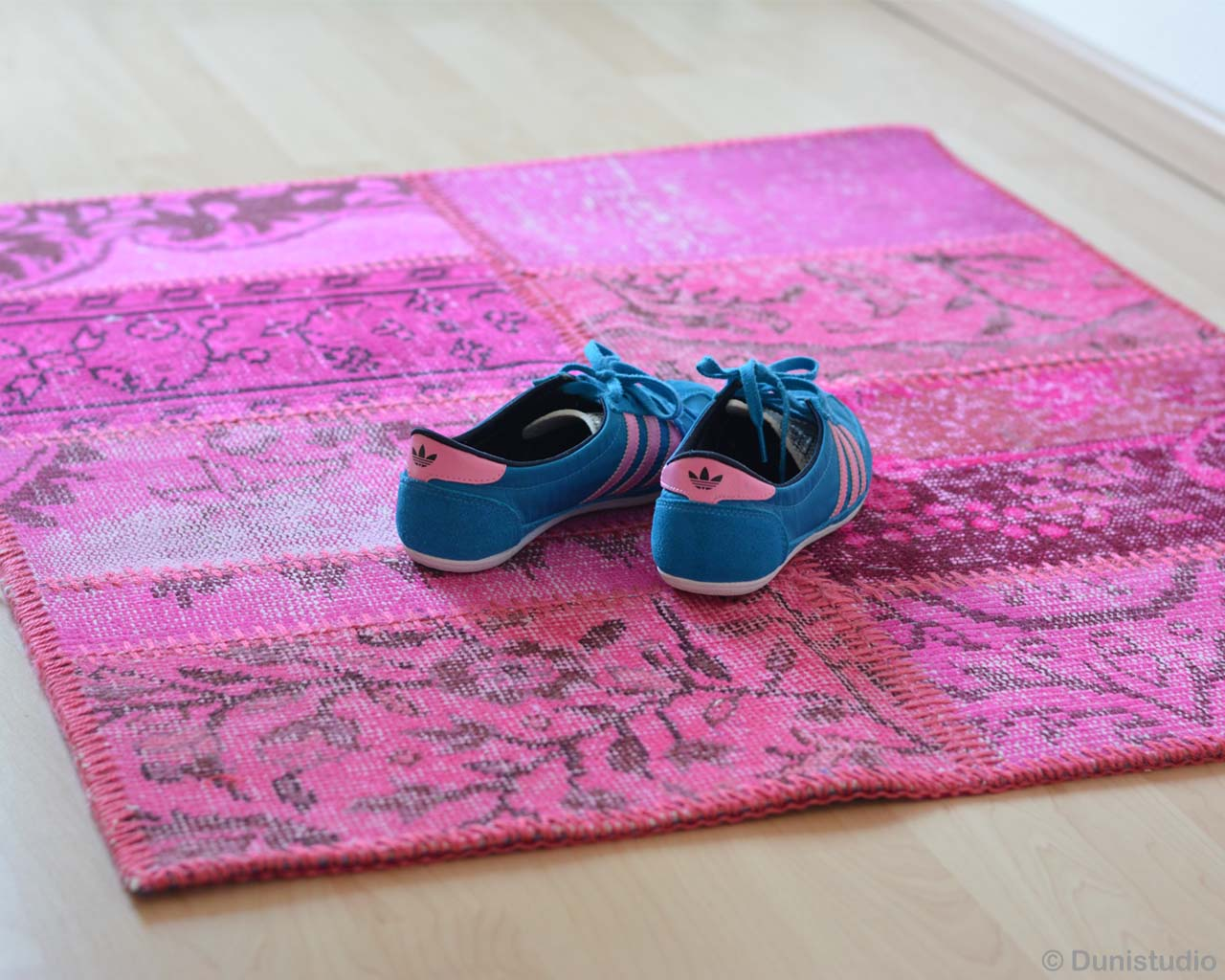 blue shoes modern flower pattern striped rug