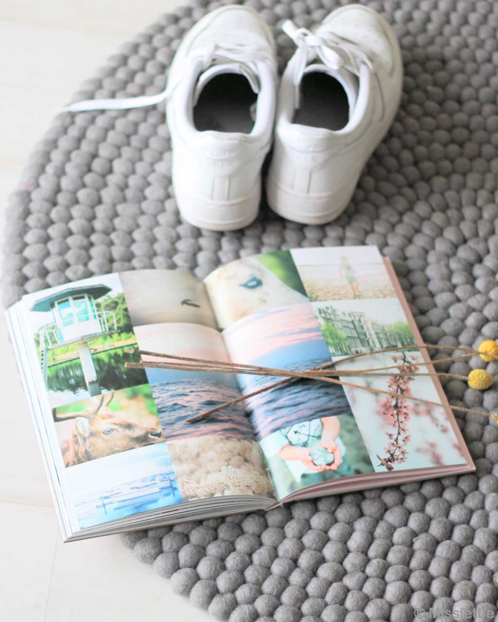 book and magazine with pictures made by nepalian rugs