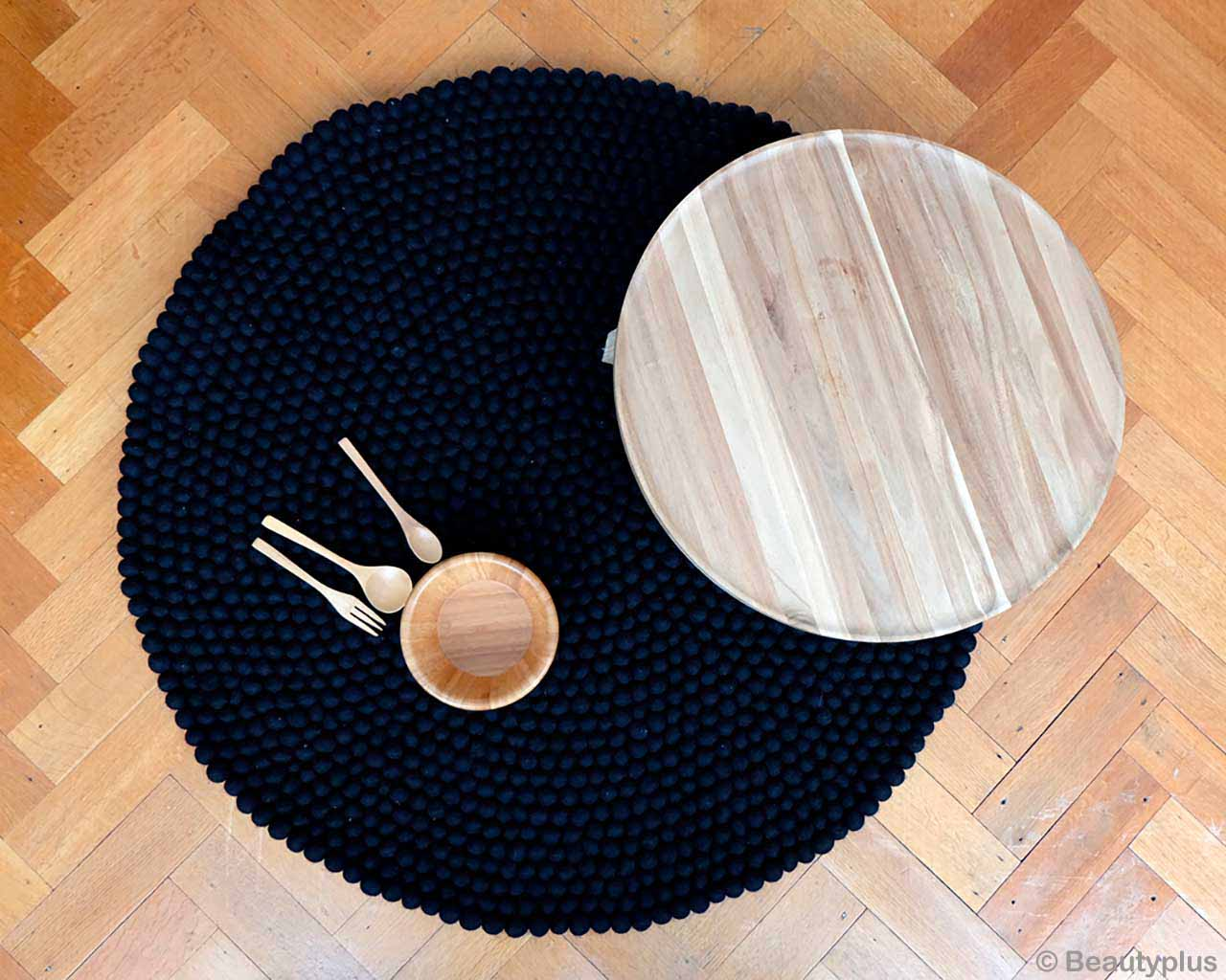 bowl with spoons and fork contemporary rugs