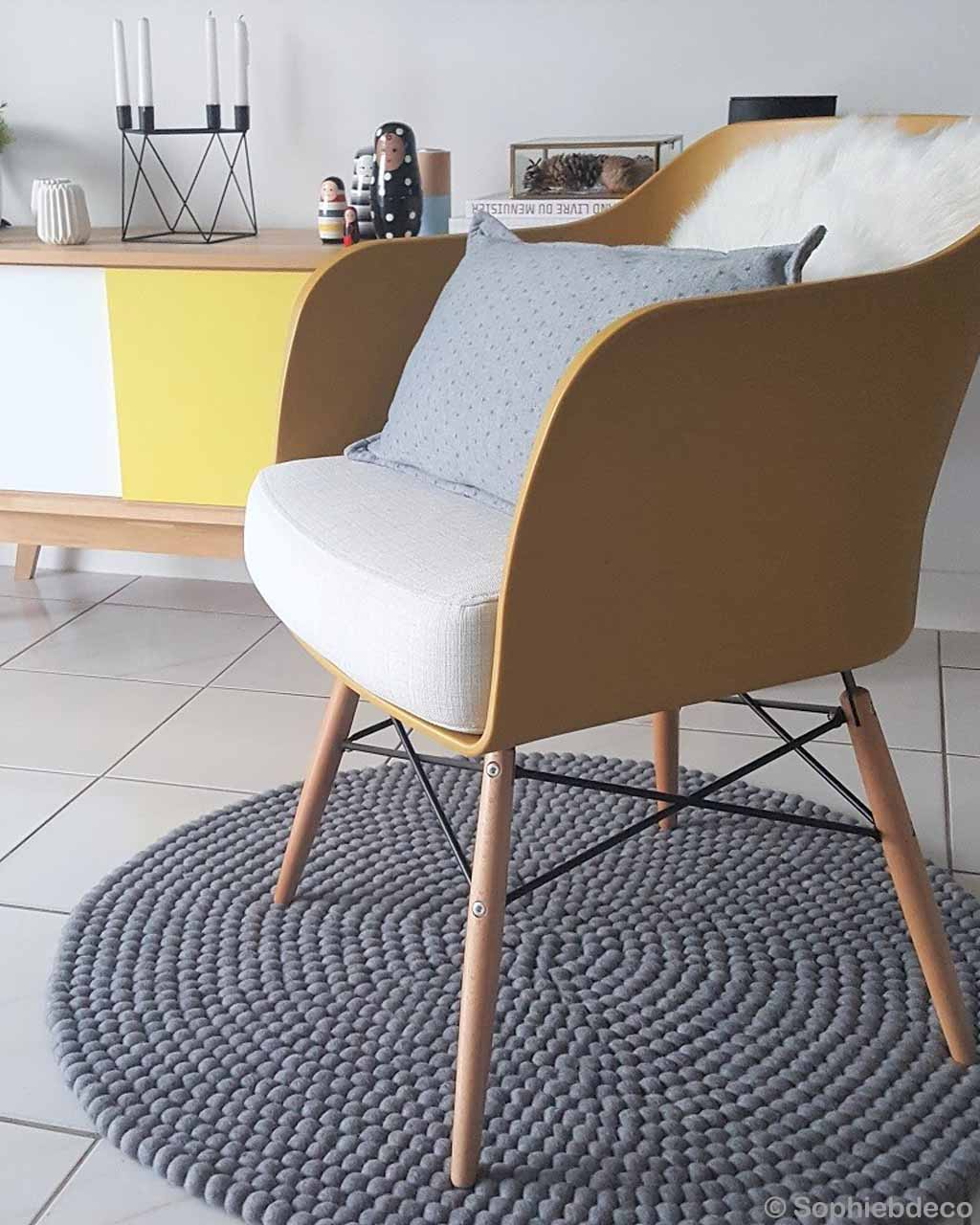 chair and candle stand nepalian made fresh gray felt ball living room rugs