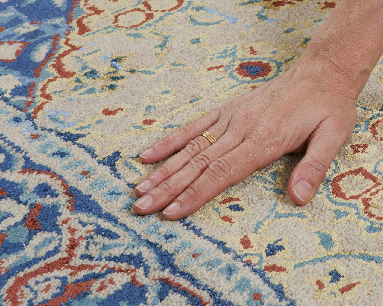chocolate fresh hand with ring all modern rugs