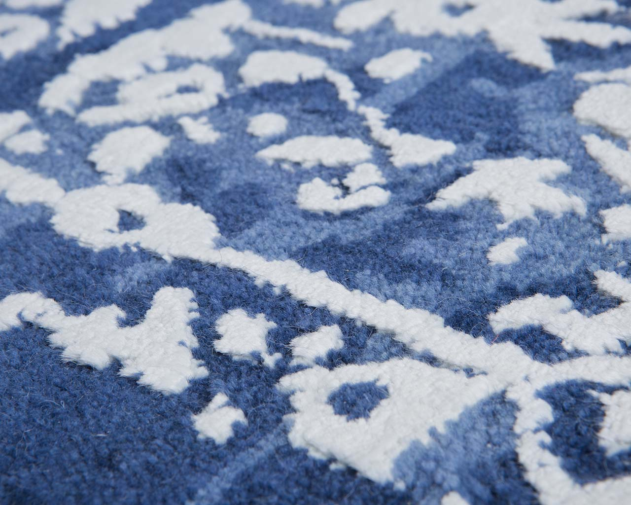 cornflower blue hand tufted shaw carpets