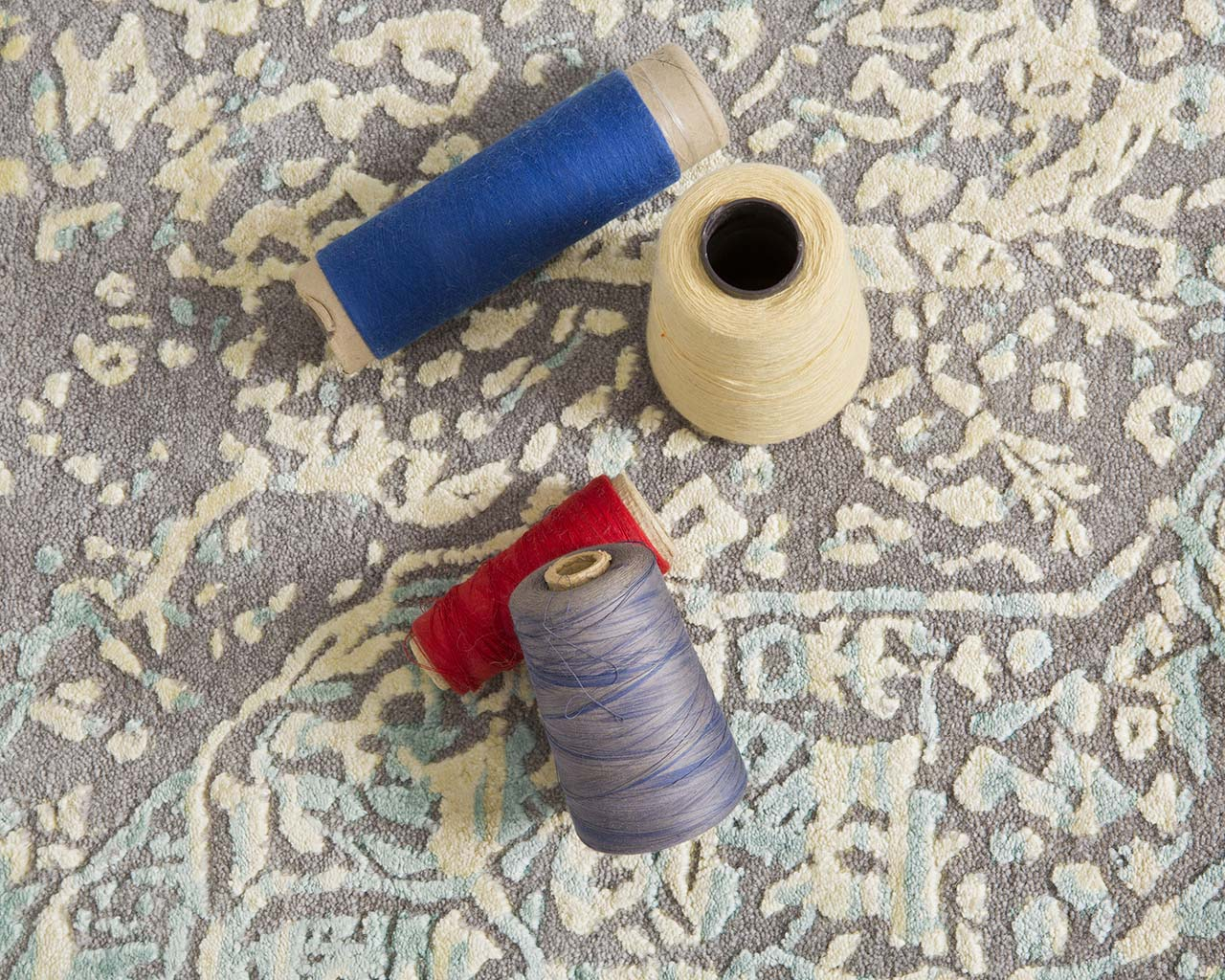 dim gray oriental thread rolls traditional persian rugs