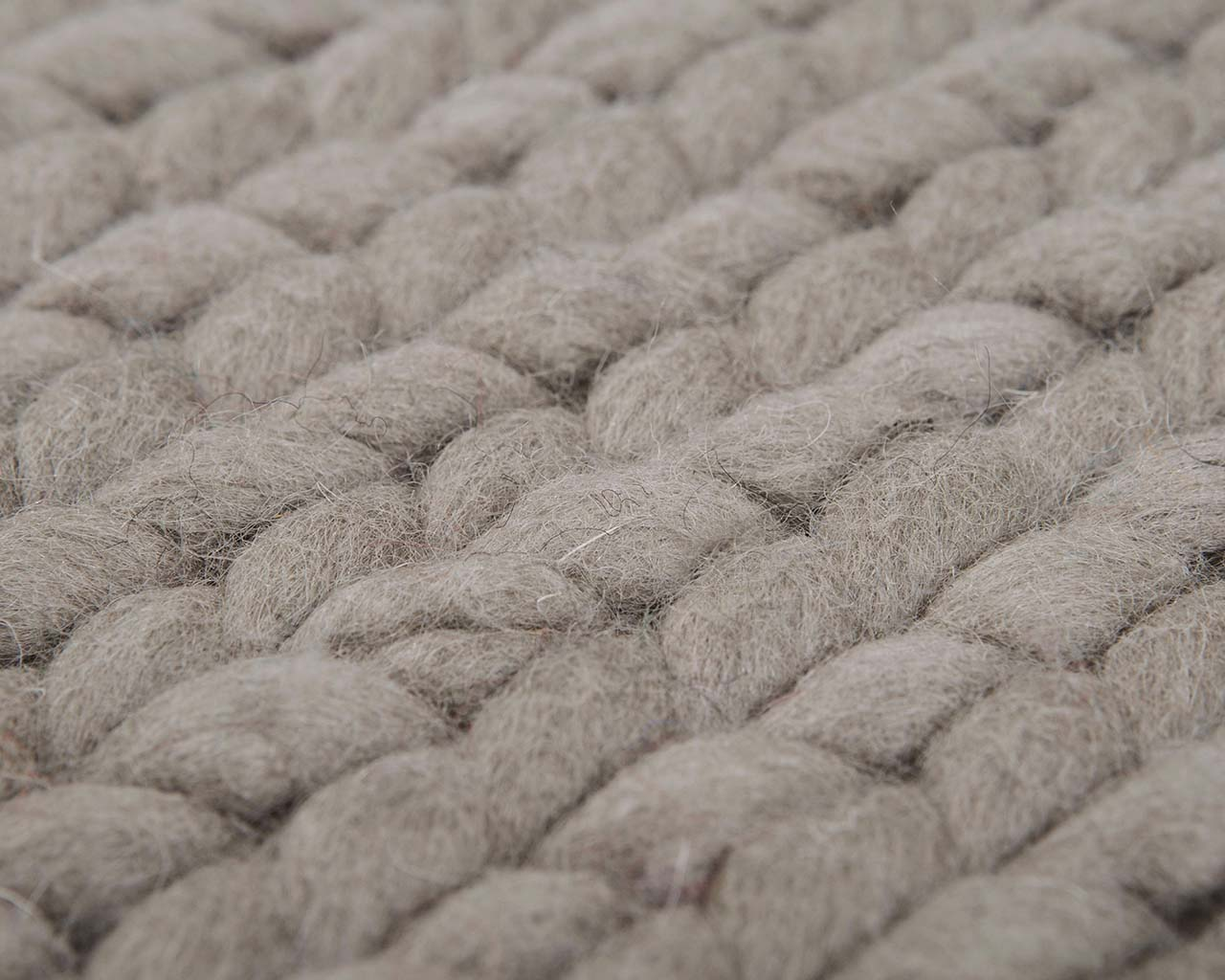 Hand Knitted Carpet Made In India Fair Trade Natural Color