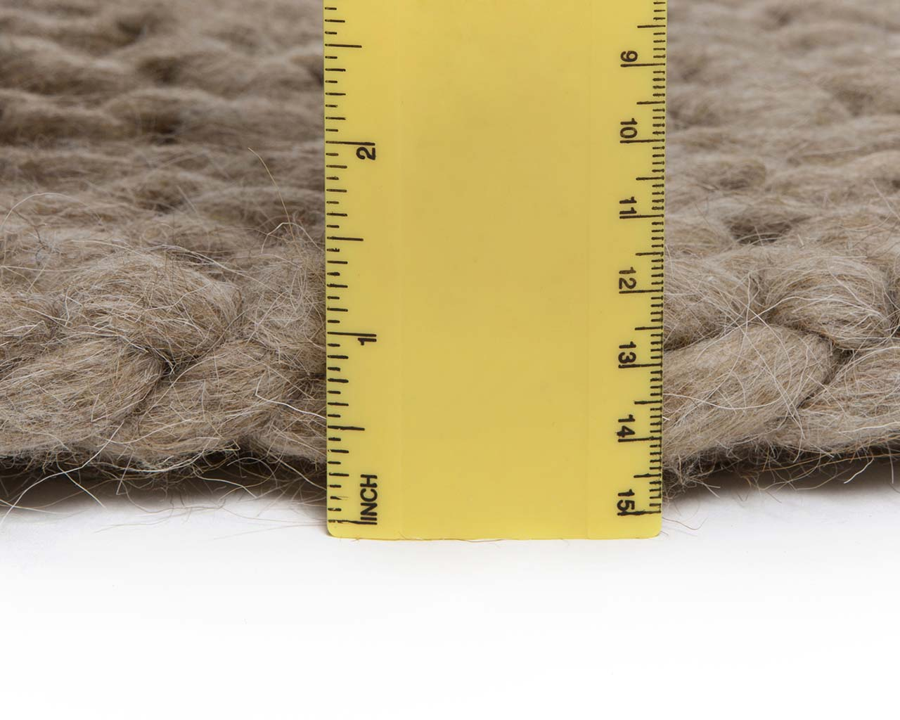 golden rod chunky braided measuring woolen small rug