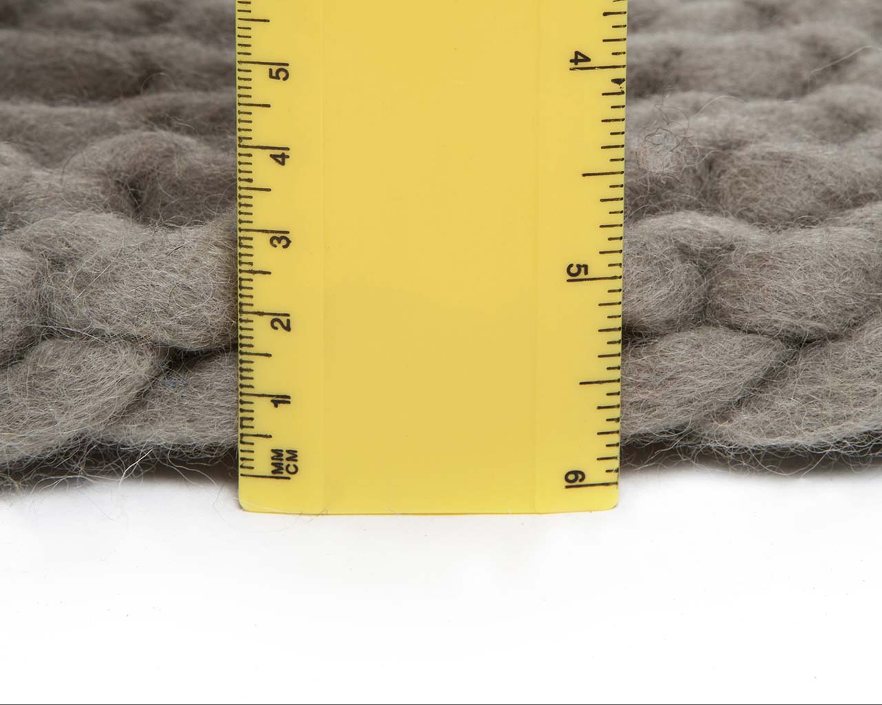 gray chunky braided measuring large area rug