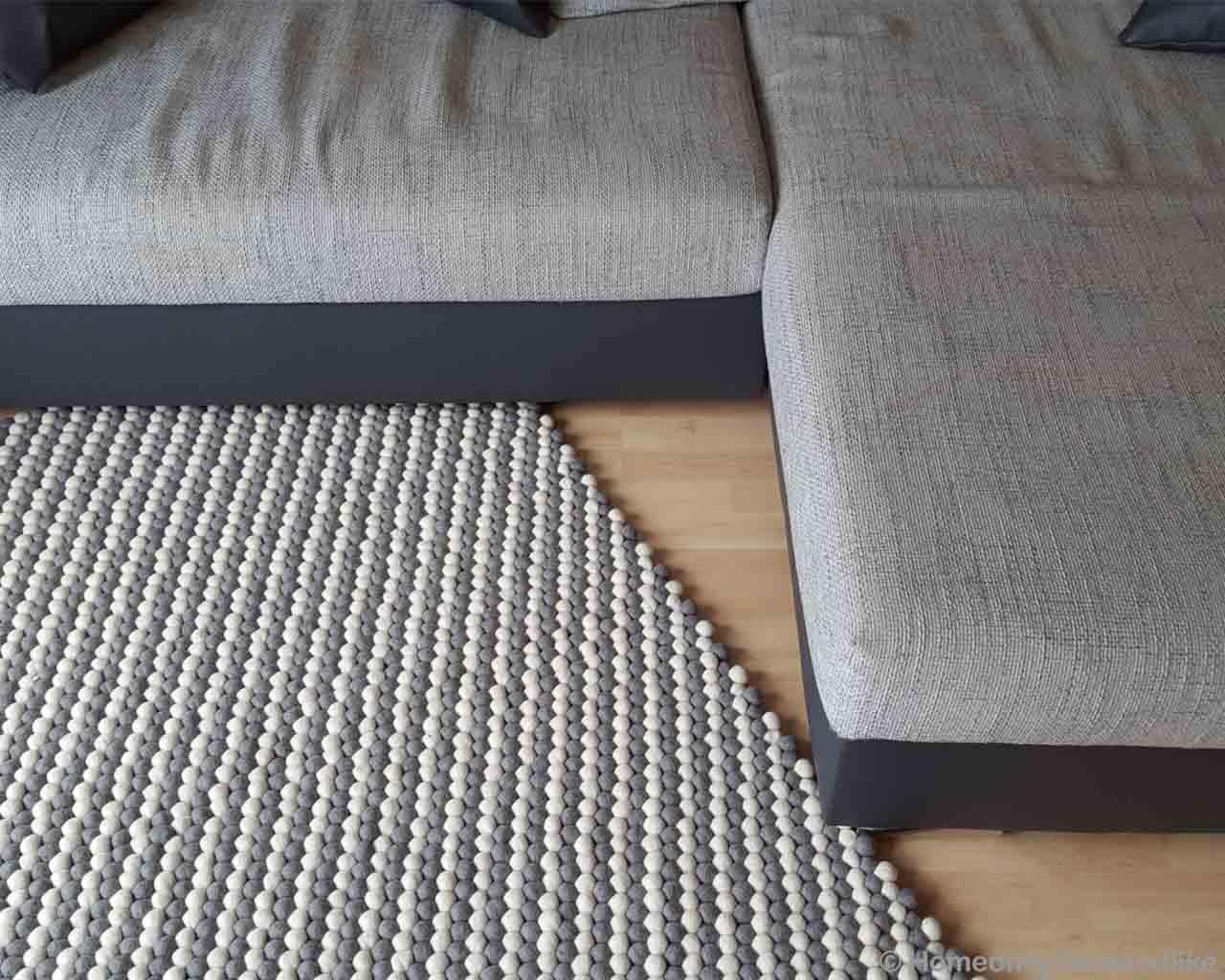 hand knotted big gray color sofa from nepal kitchen rugs