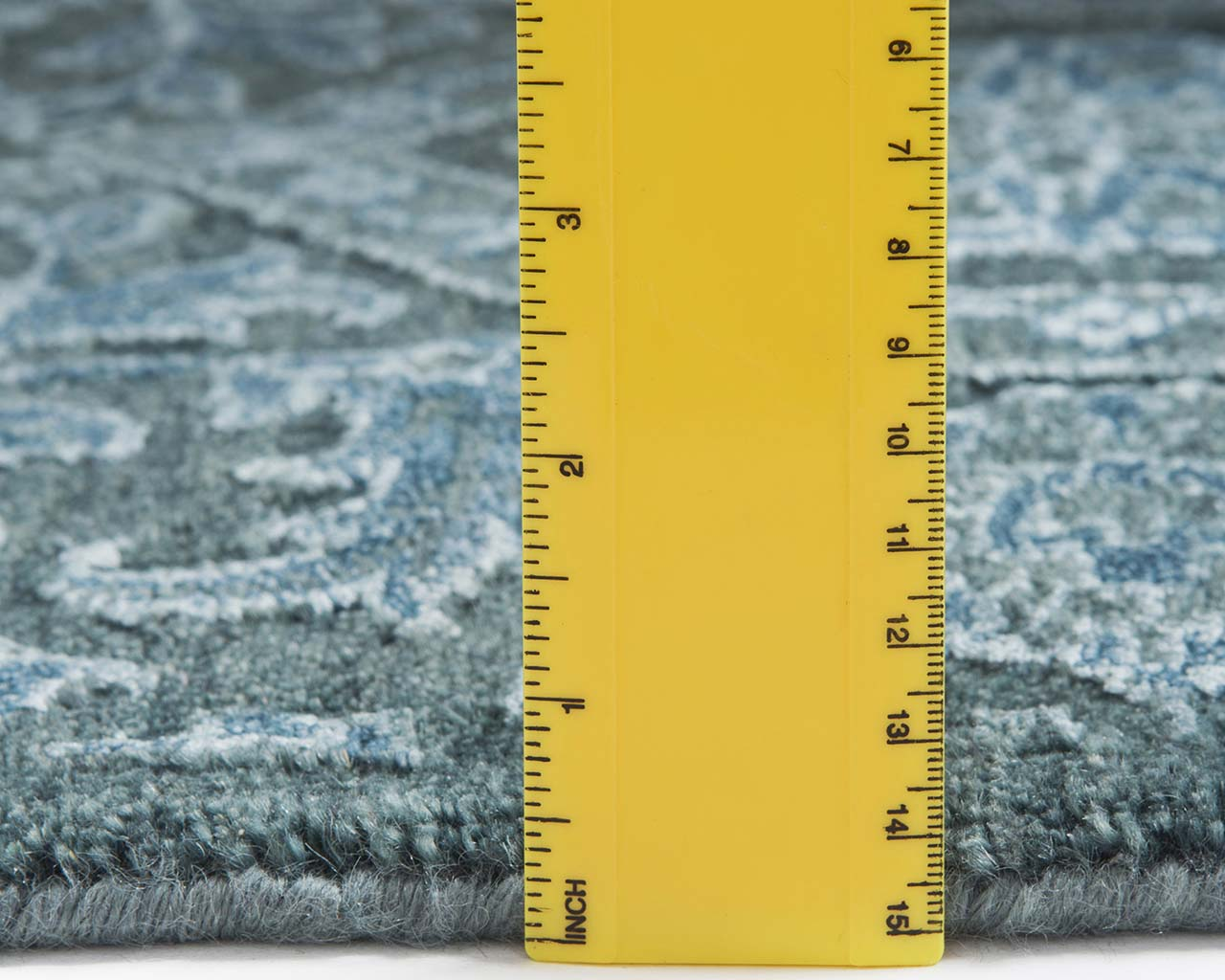 hand knotted deep sky blue ruler room size rugs