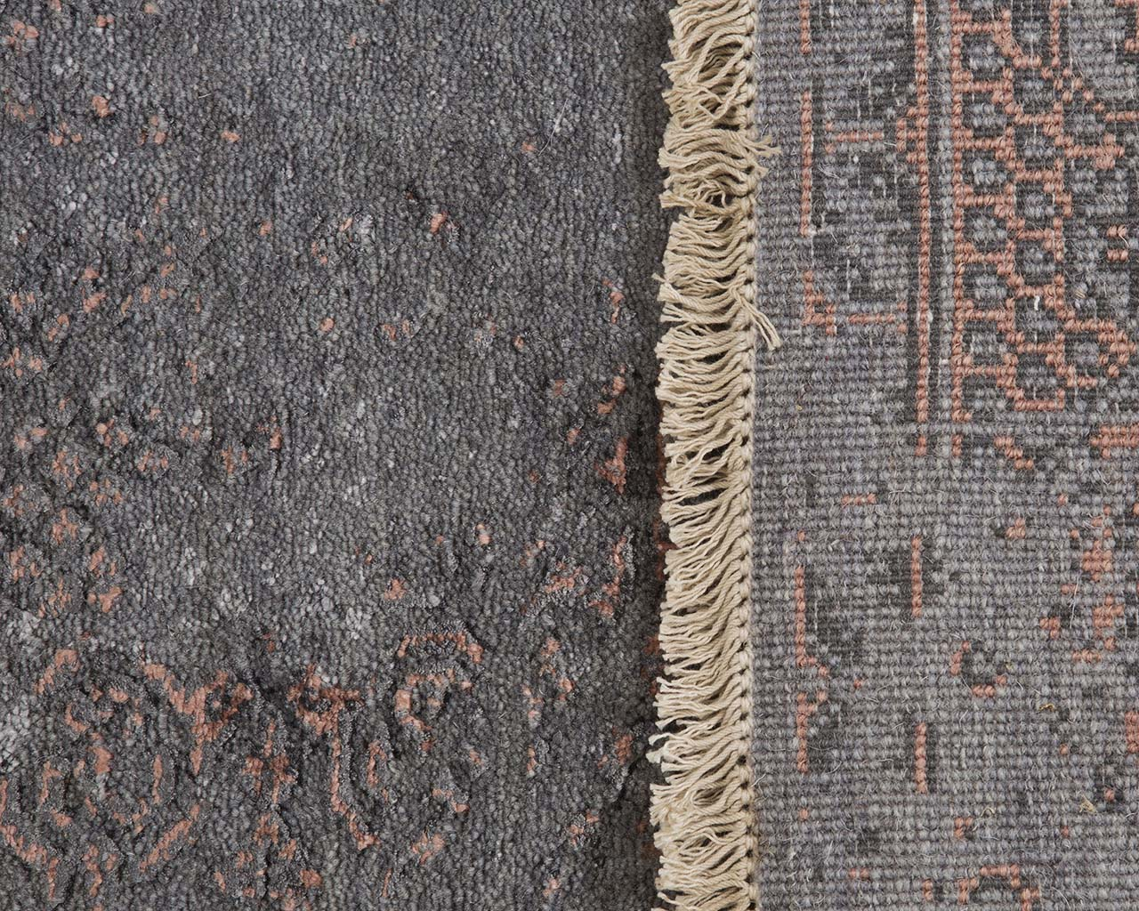 hand knotted slate gray carpet store