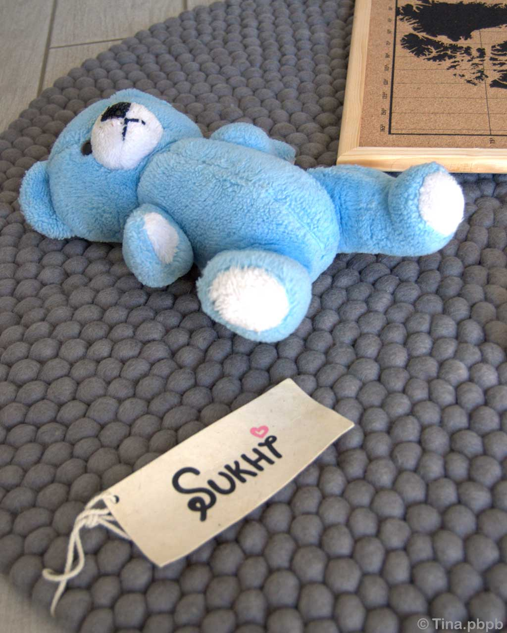 hand knotted sweet blue stuffed toy rugs