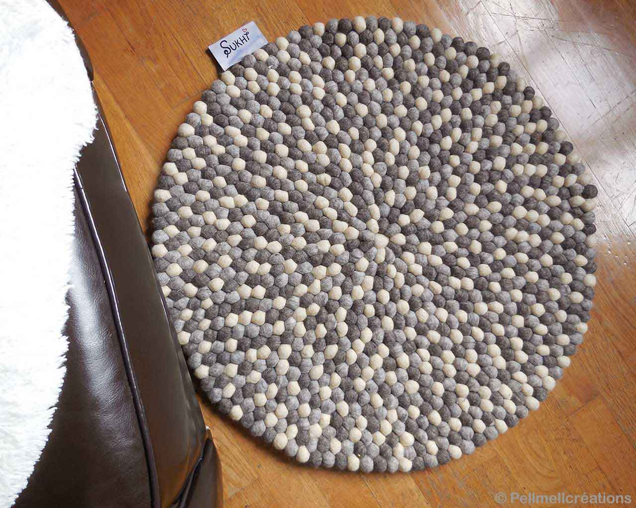 hand knotted wooden floor oriental gray shade felt ball rugs online