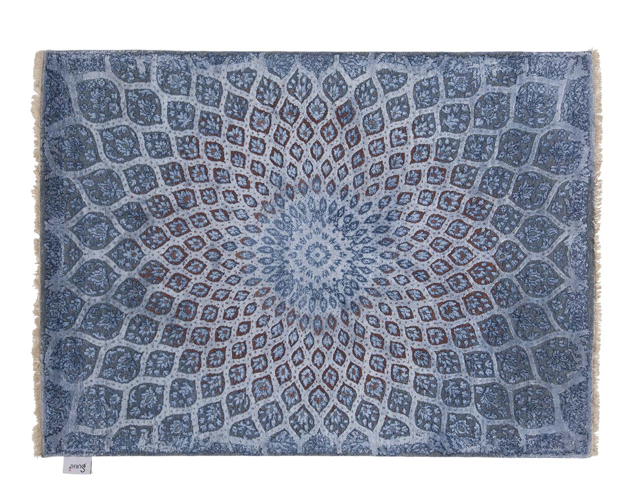 hand knotted woven blue heriz rug