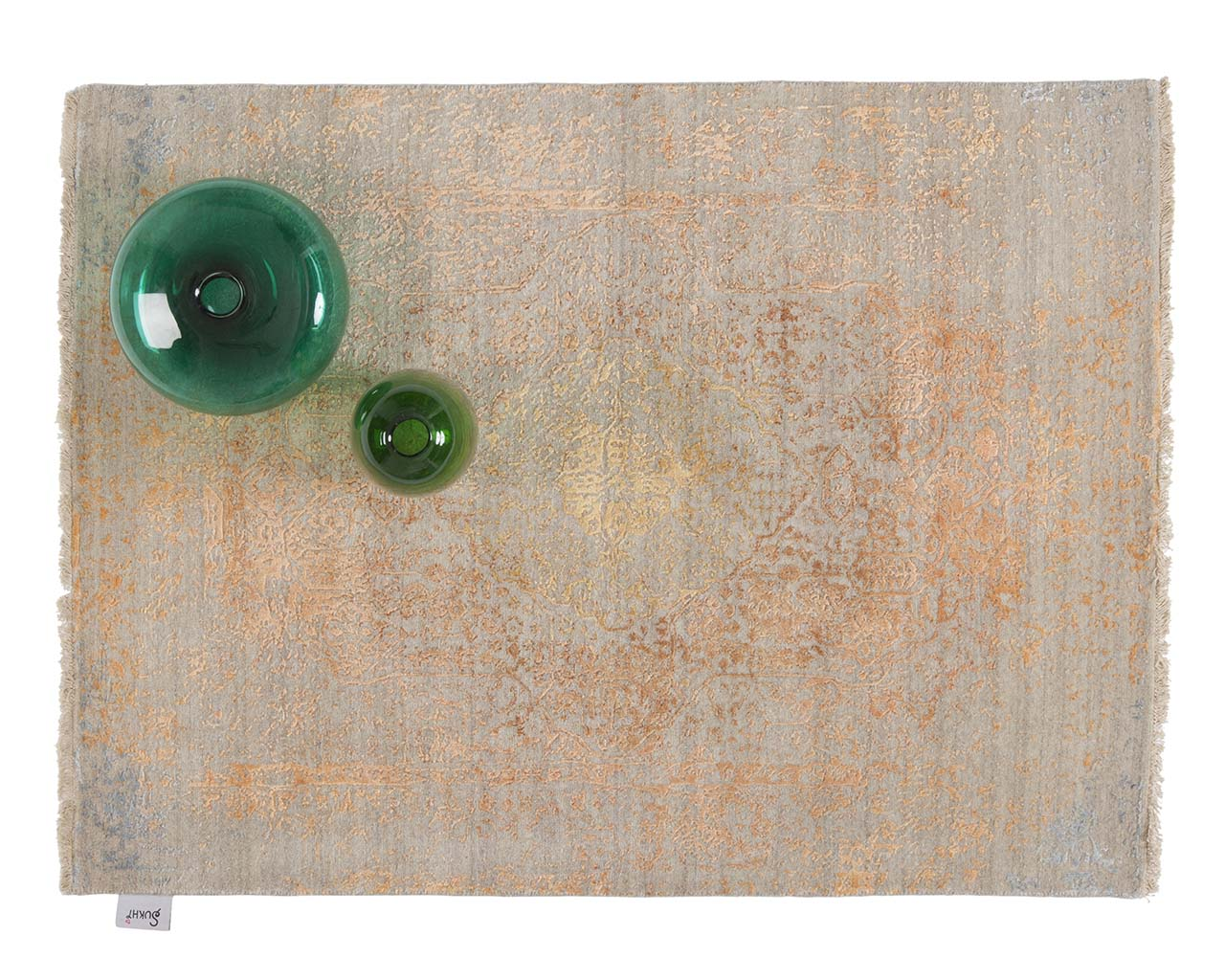 hand knotted woven coral green bowl kaleen rugs