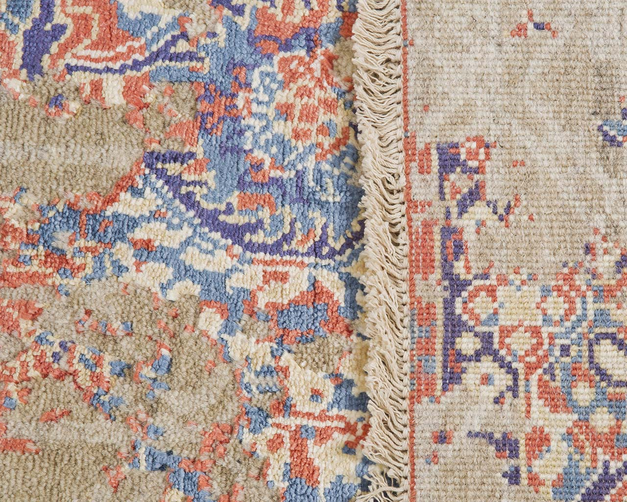 hand knotted woven crimson living carpets modern