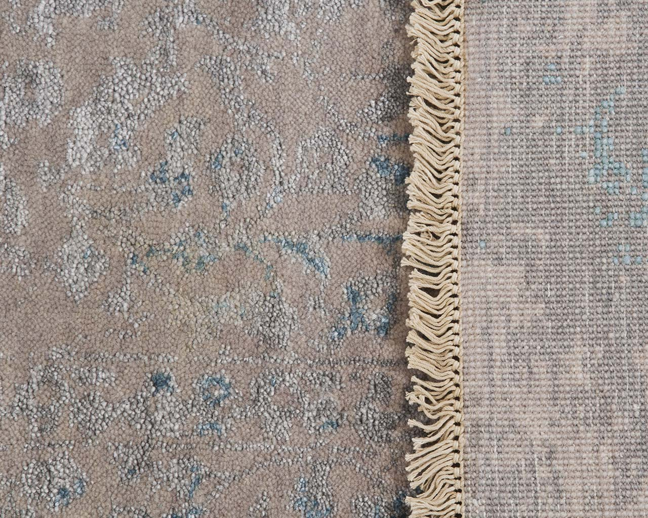 hand knotted woven dark cyan hand knotted persian carpets
