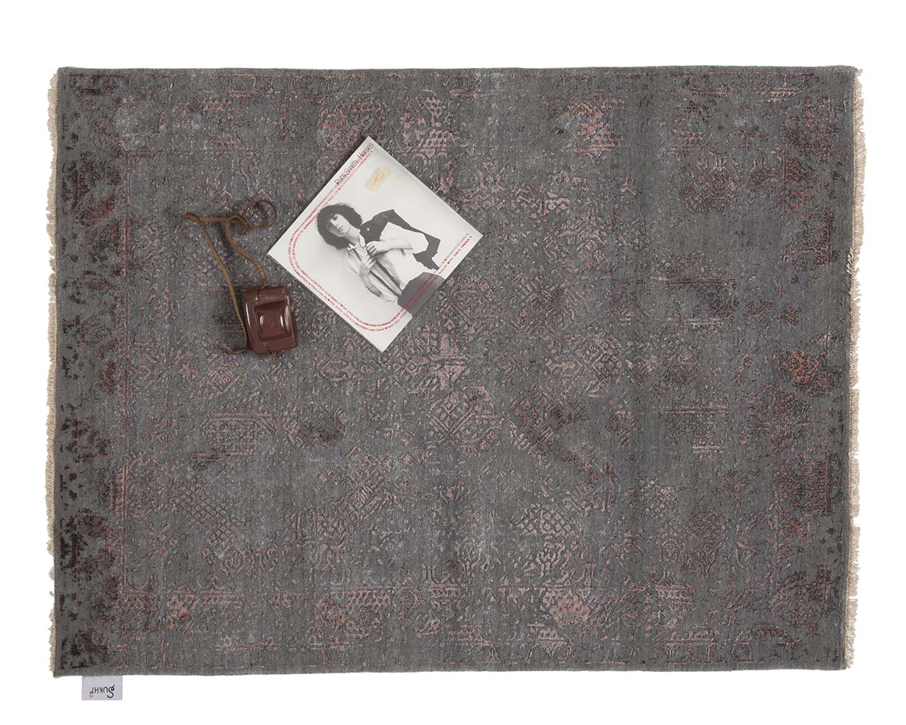 hand knotted woven light gray art book decor rugs