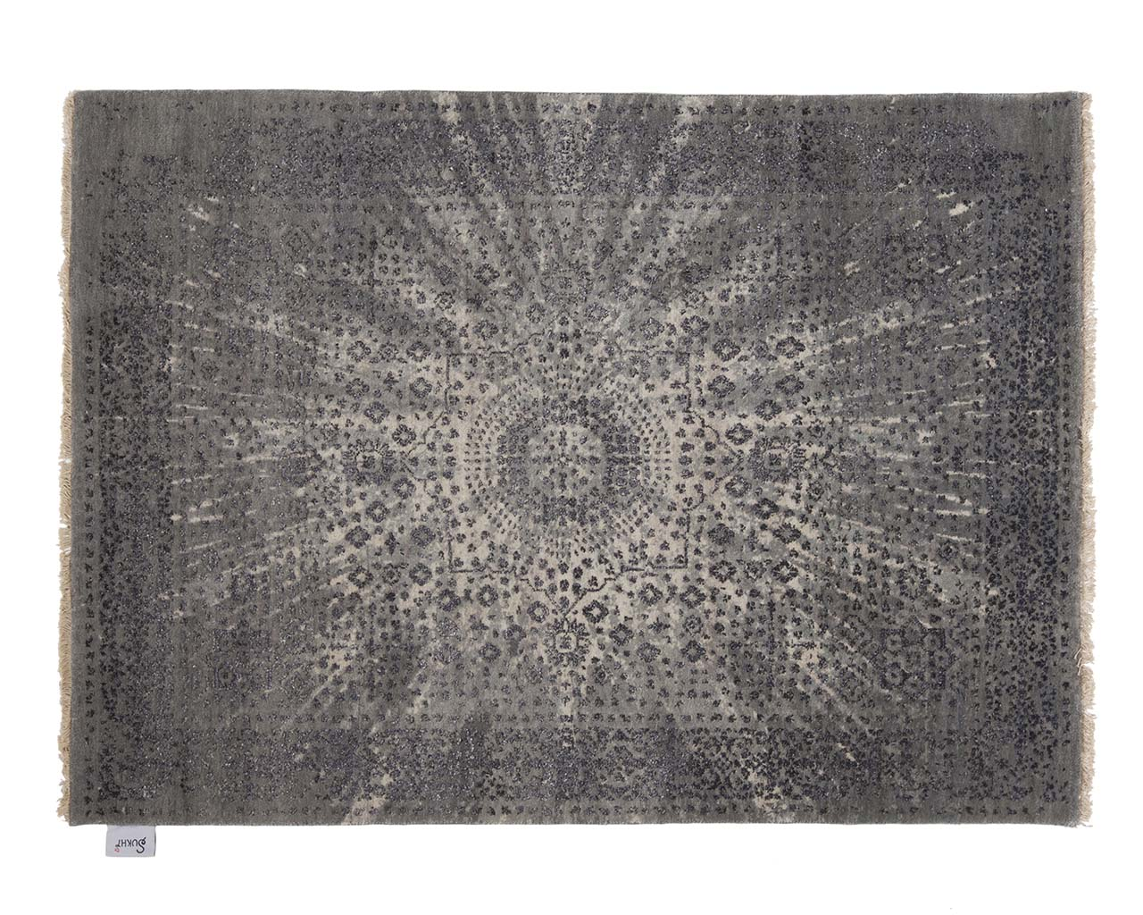 hand knotted woven silver large round carpets