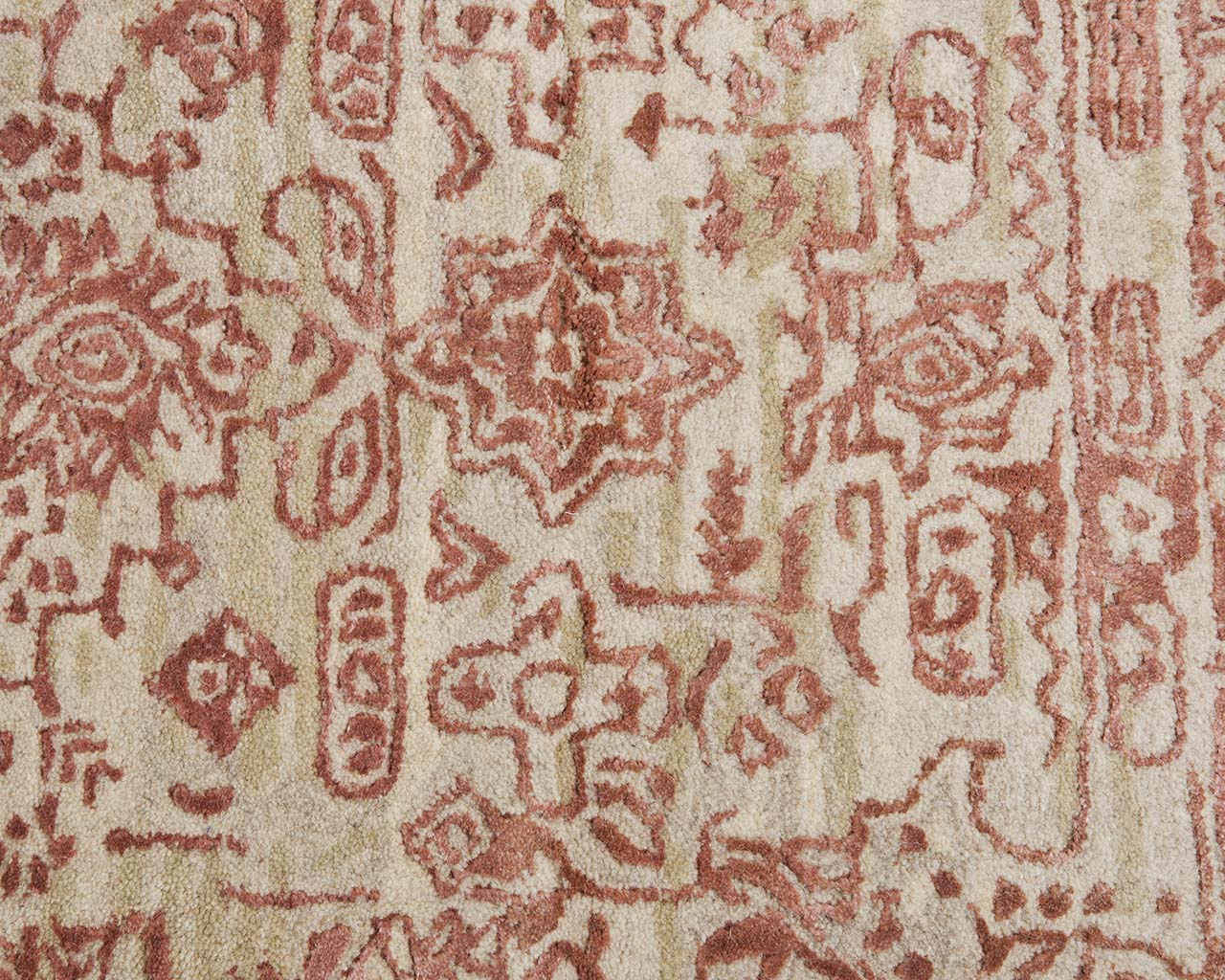 hand tufted fire brick traditional persian rugs