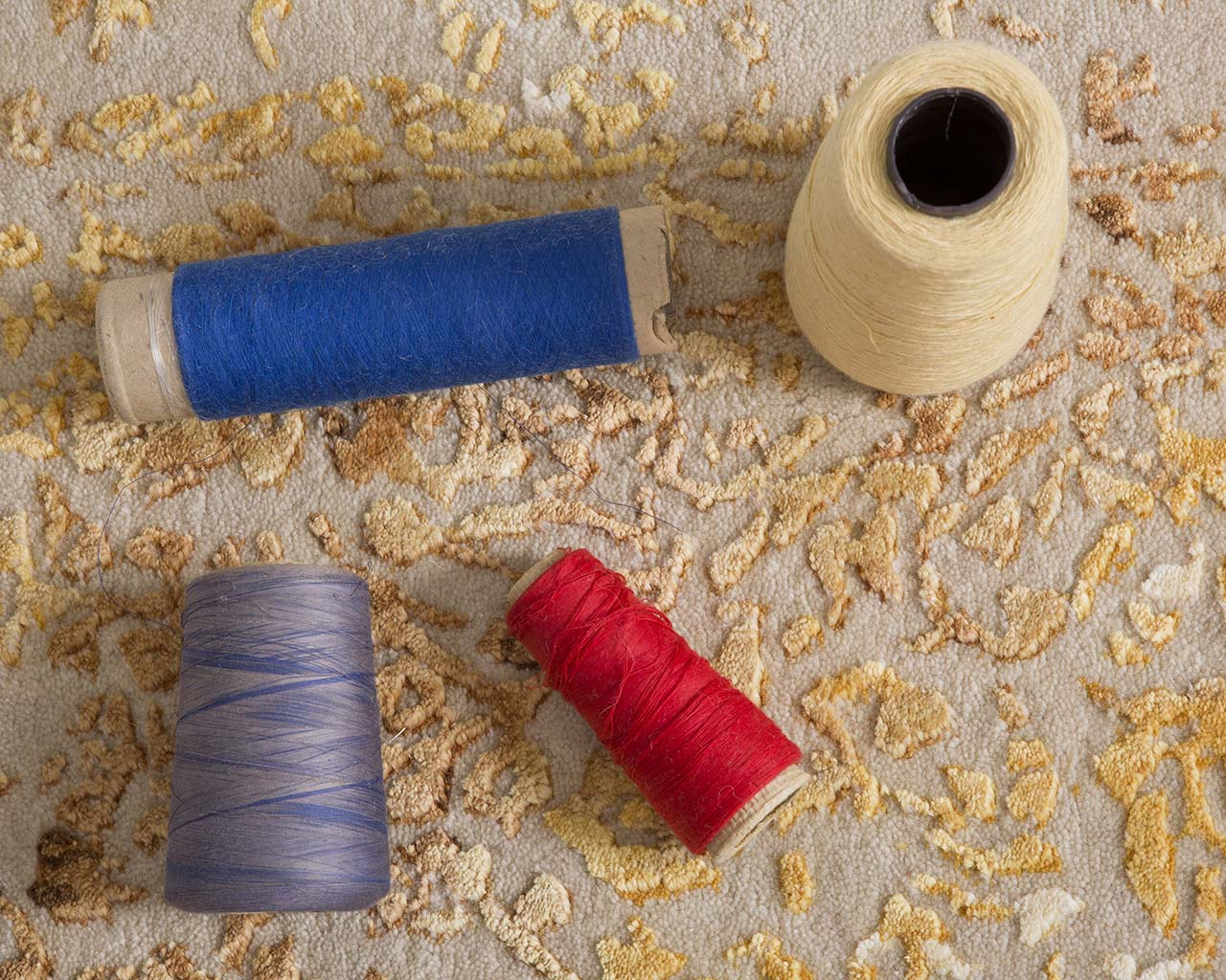 hand tufted thread rolls peach oriental rug shop