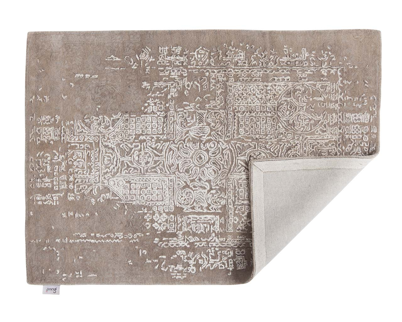 hand tufted wrapped light gray antique persian rugs for sale