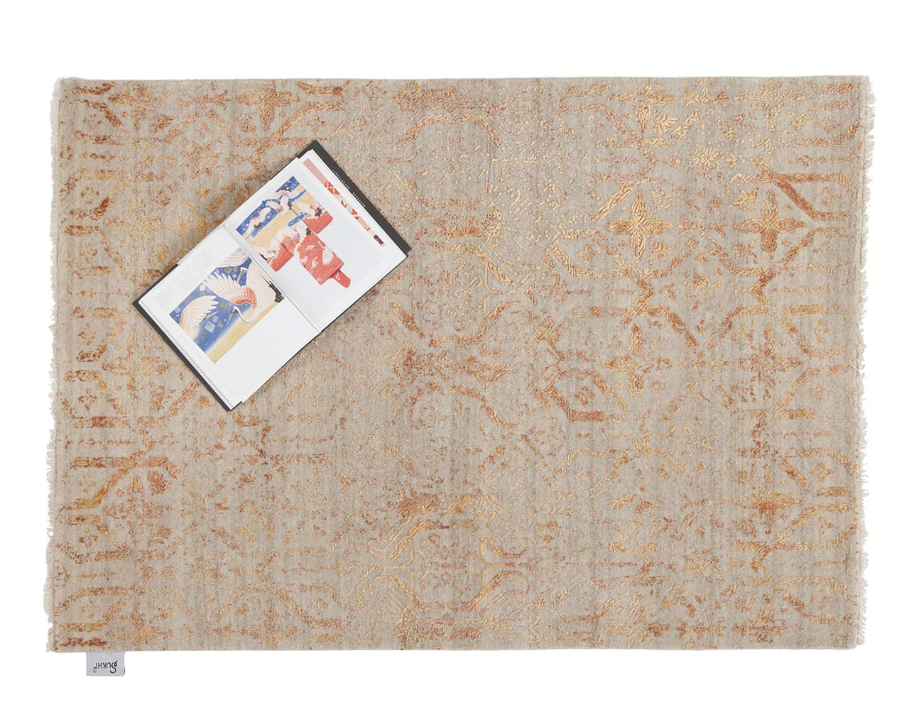 indian woven light yellow art book new rugs