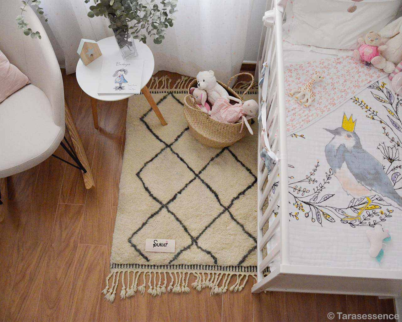 kids bed and basket of toys modern rugs