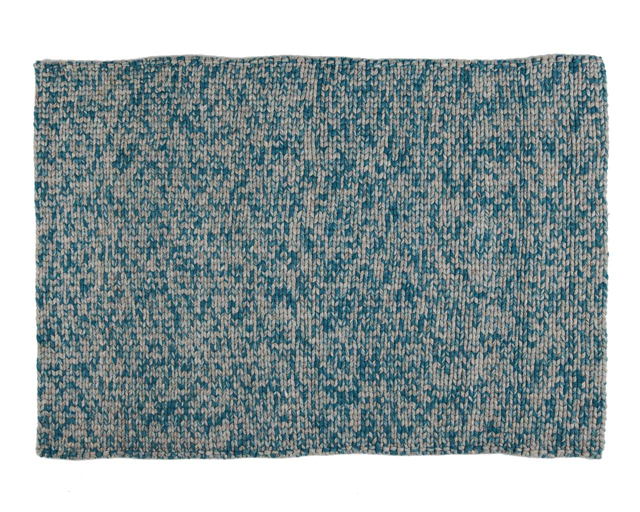 knitted light sea green rectangle wool modern rugs for sale