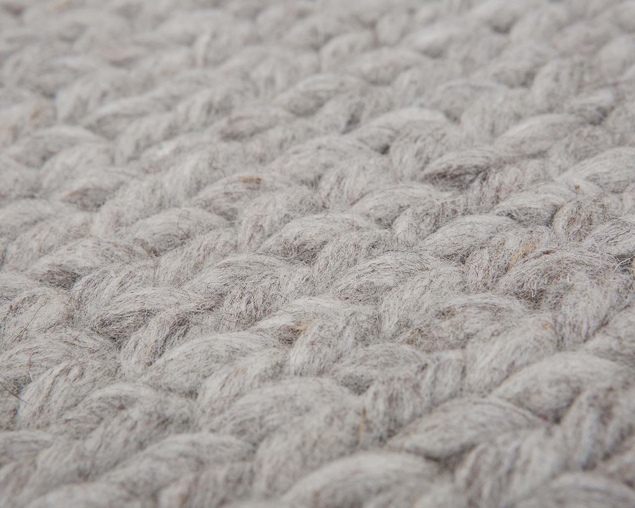 knitted light slate gray wool hand tufted wool carpet