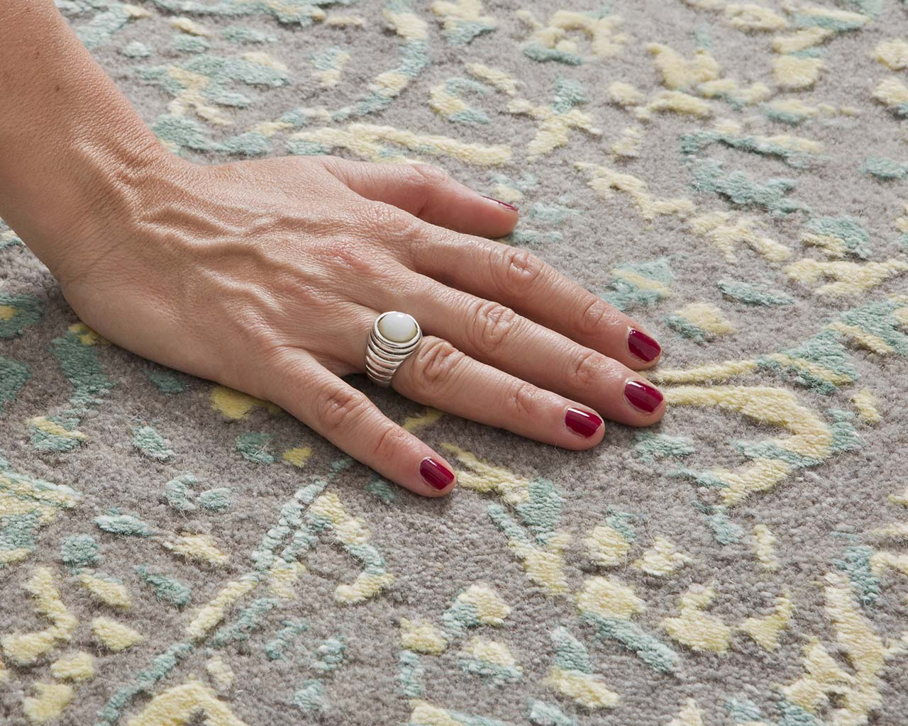 light gray tufted hand with nail polish area carpets online