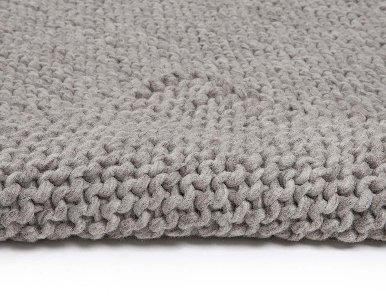 light gray woolen braided chunky soft throw rugs