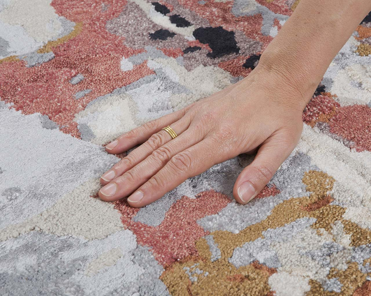 lime green luxurious hand with ring quality carpets