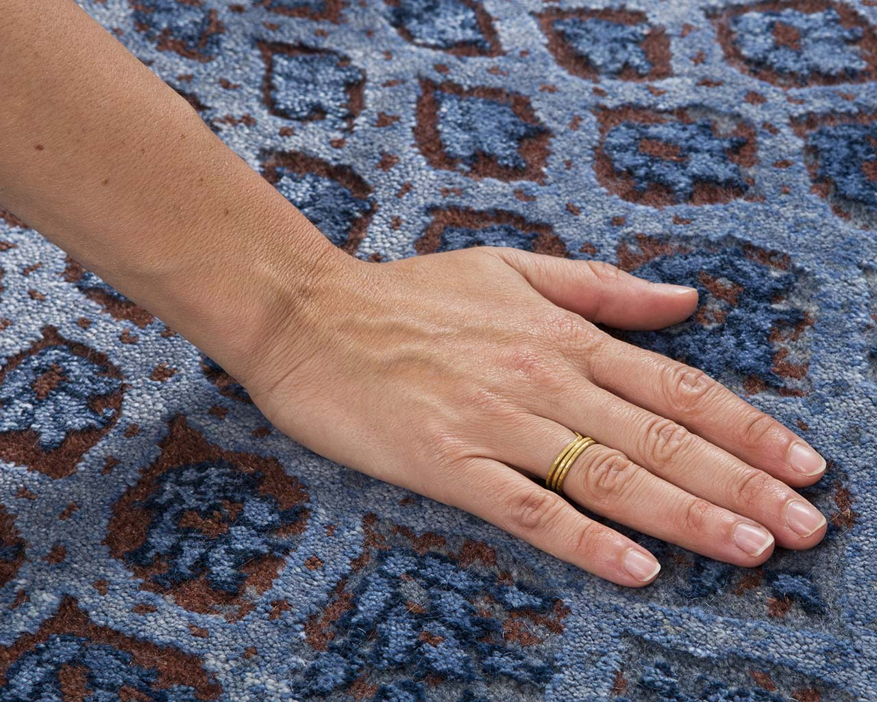 modern midnight blue hand with ring traditional oriental carpets