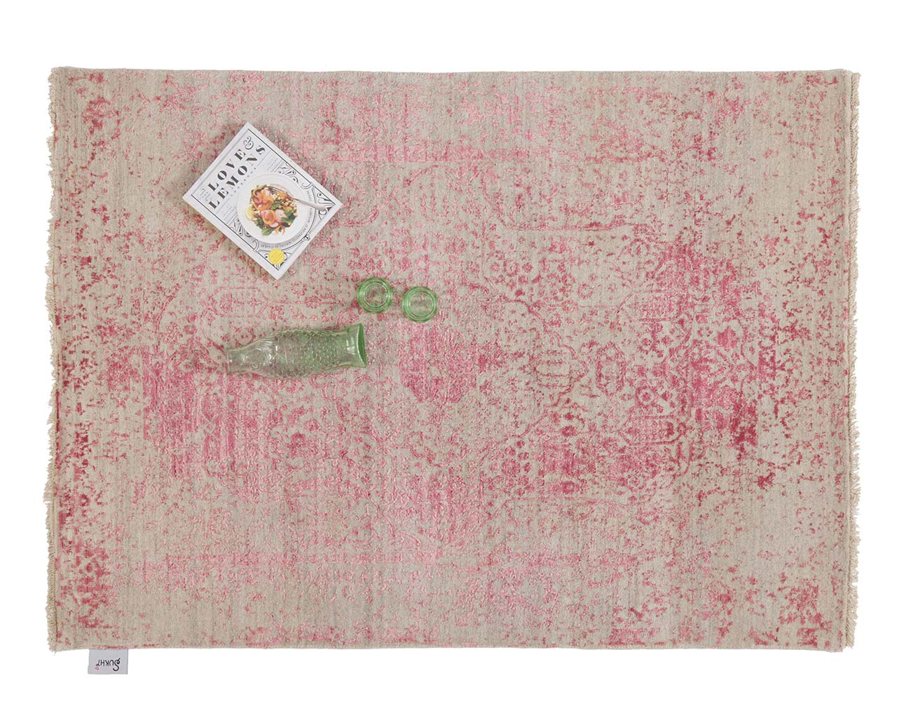 modern woven hot pink art book square oriental rugs