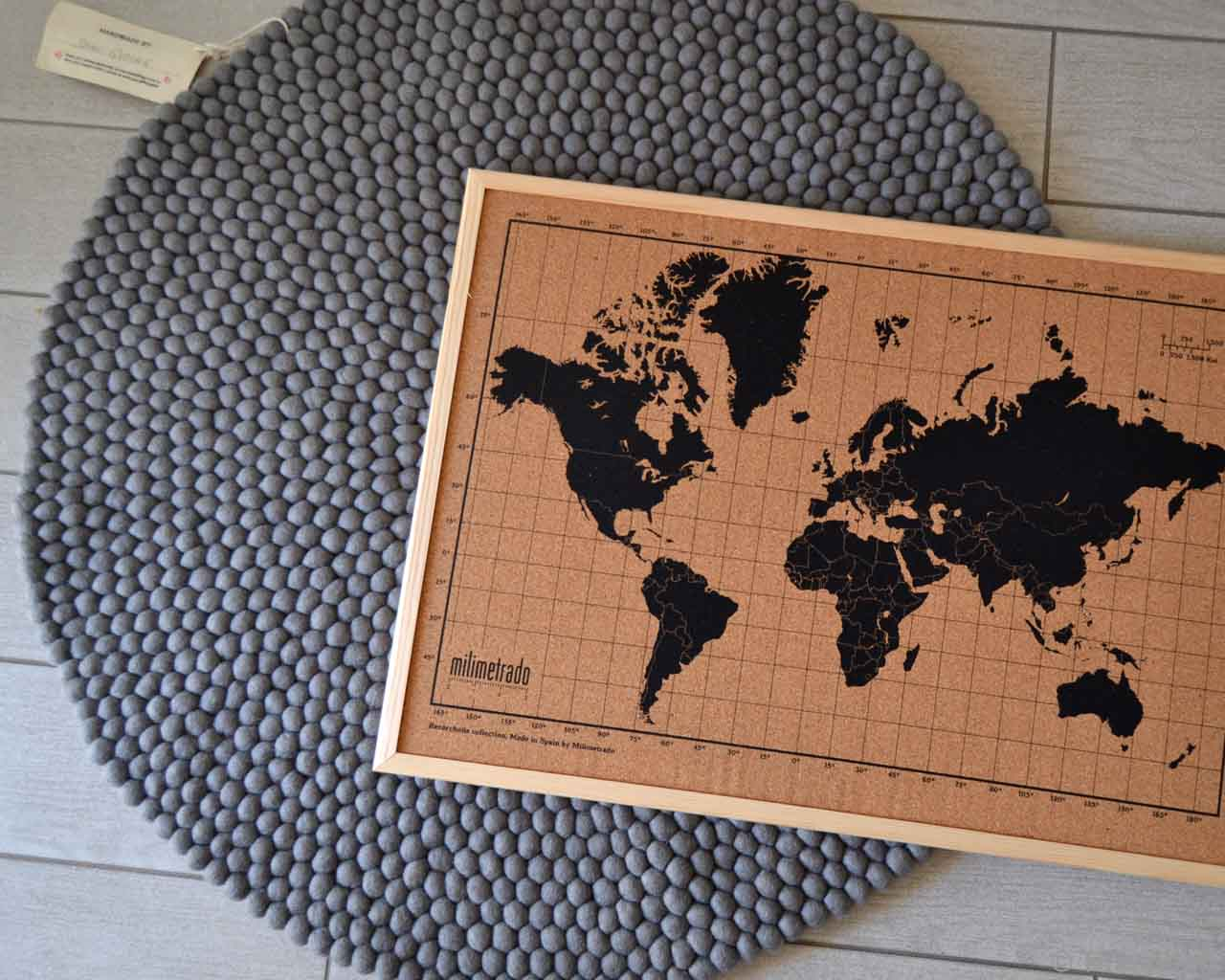 picture of the map of world in black made by nepalian danish design room area rugs