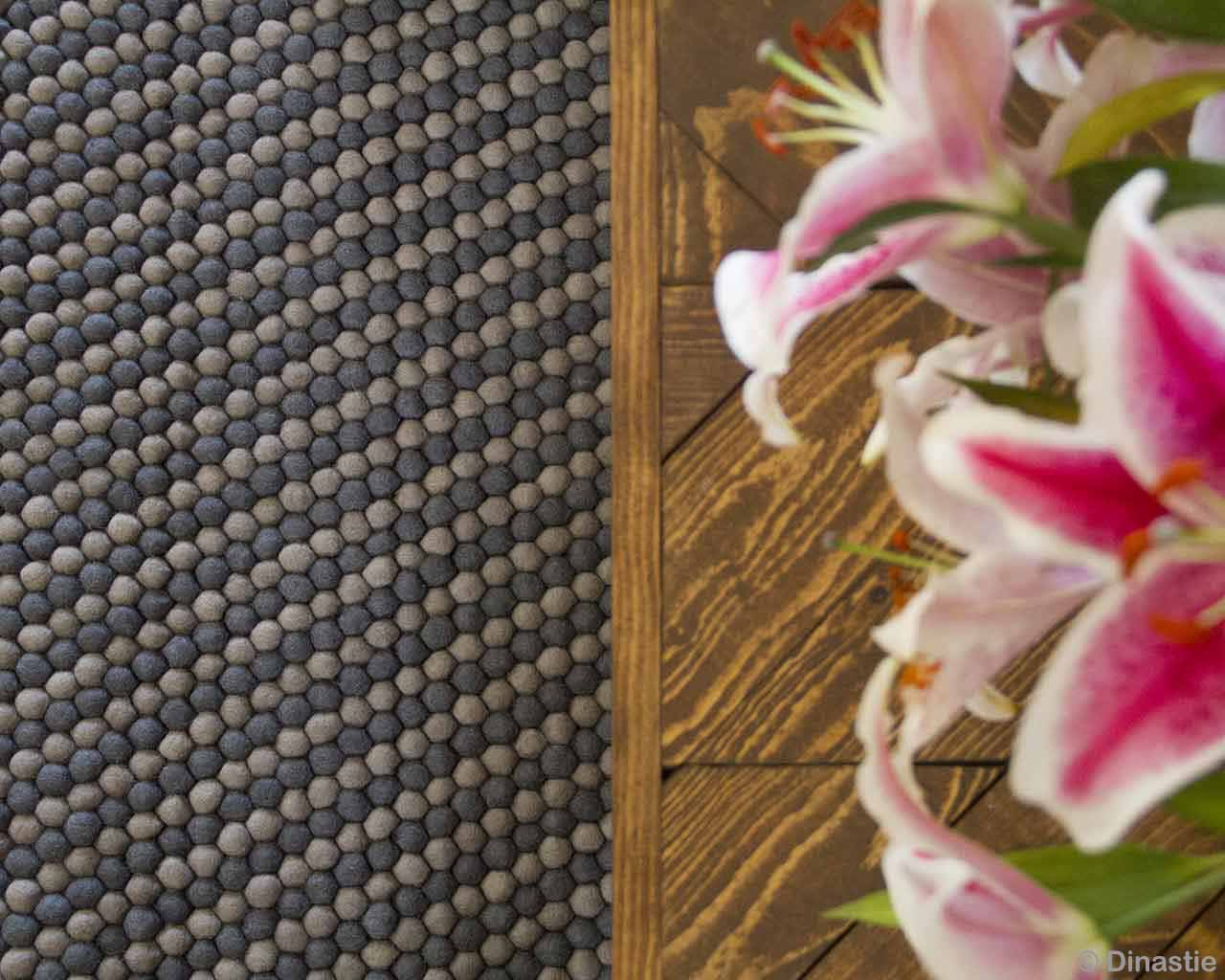 pink flower from nepal contemporary gray and white felt ball rugs