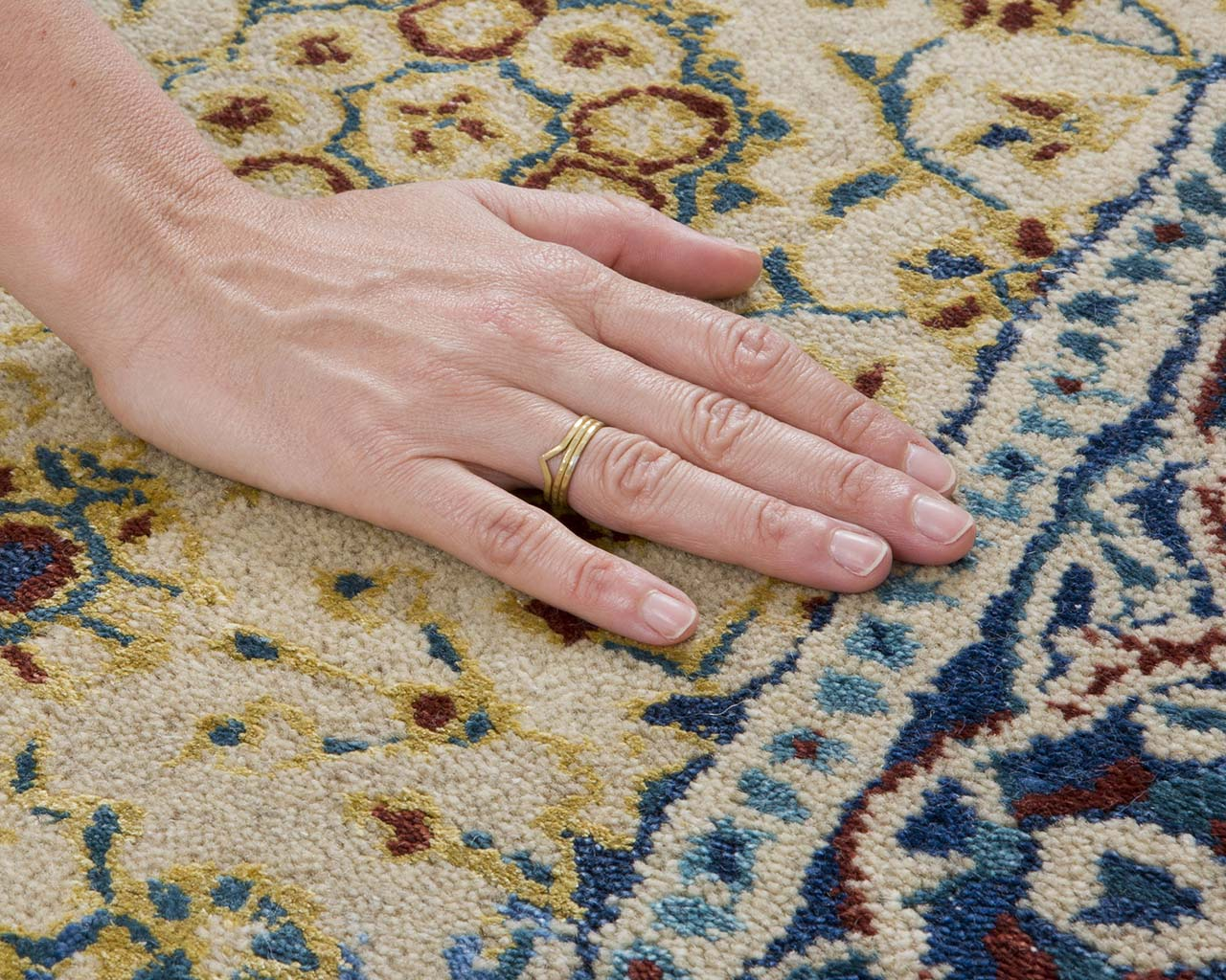 saddle brown tufted hand with ring middle eastern carpets for sale