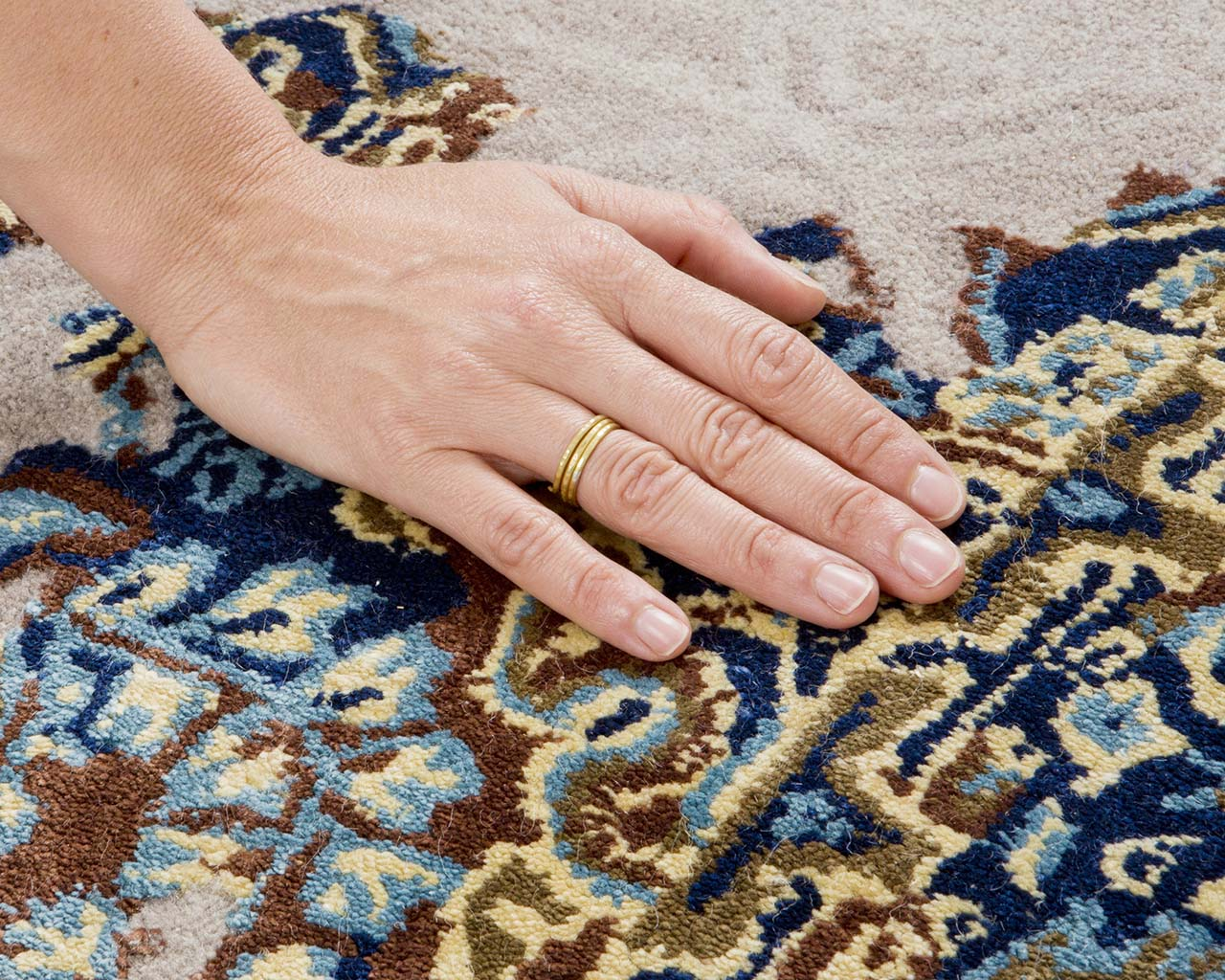 silver handmade hand with ring persian style area rugs