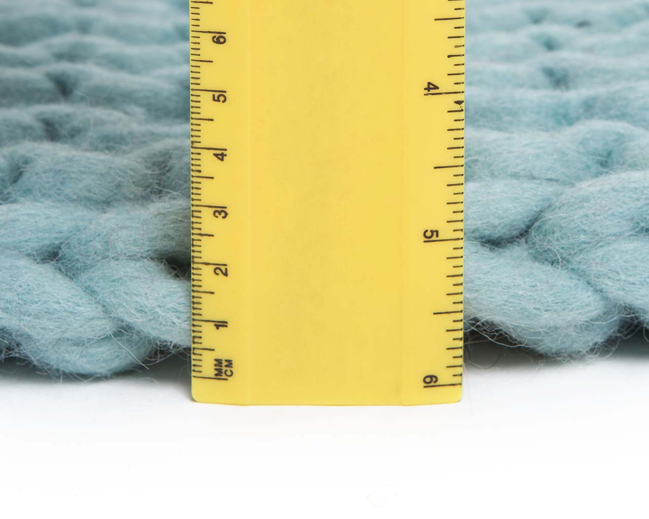 sky blue chunky braided woolen small rugs