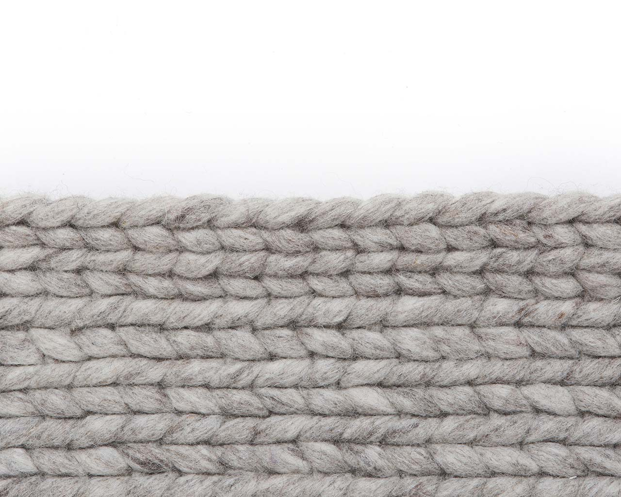 slate gray knitted braided soft wool contemporary kitchen carpets