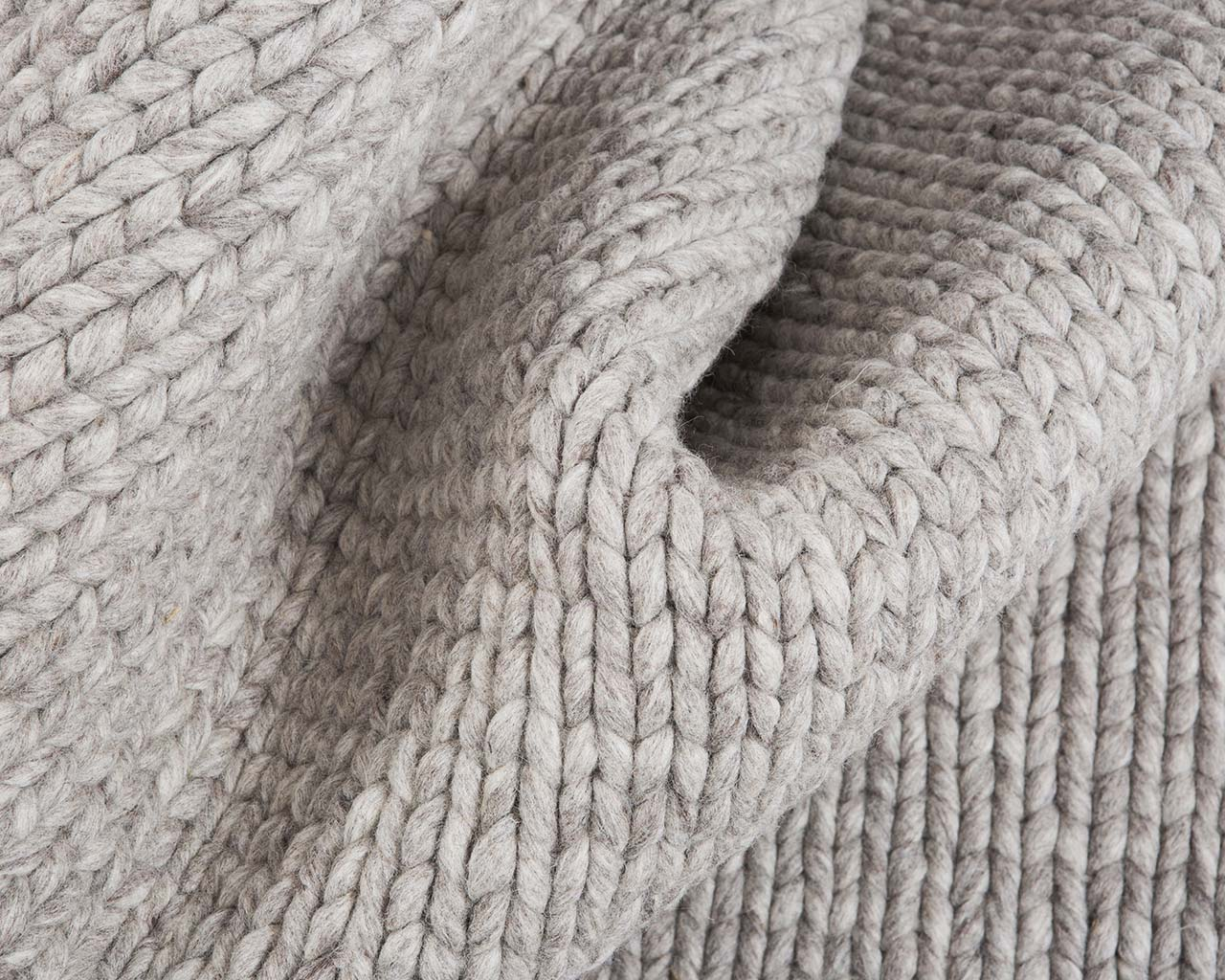 soft braided knitted dim gray wool rugs online